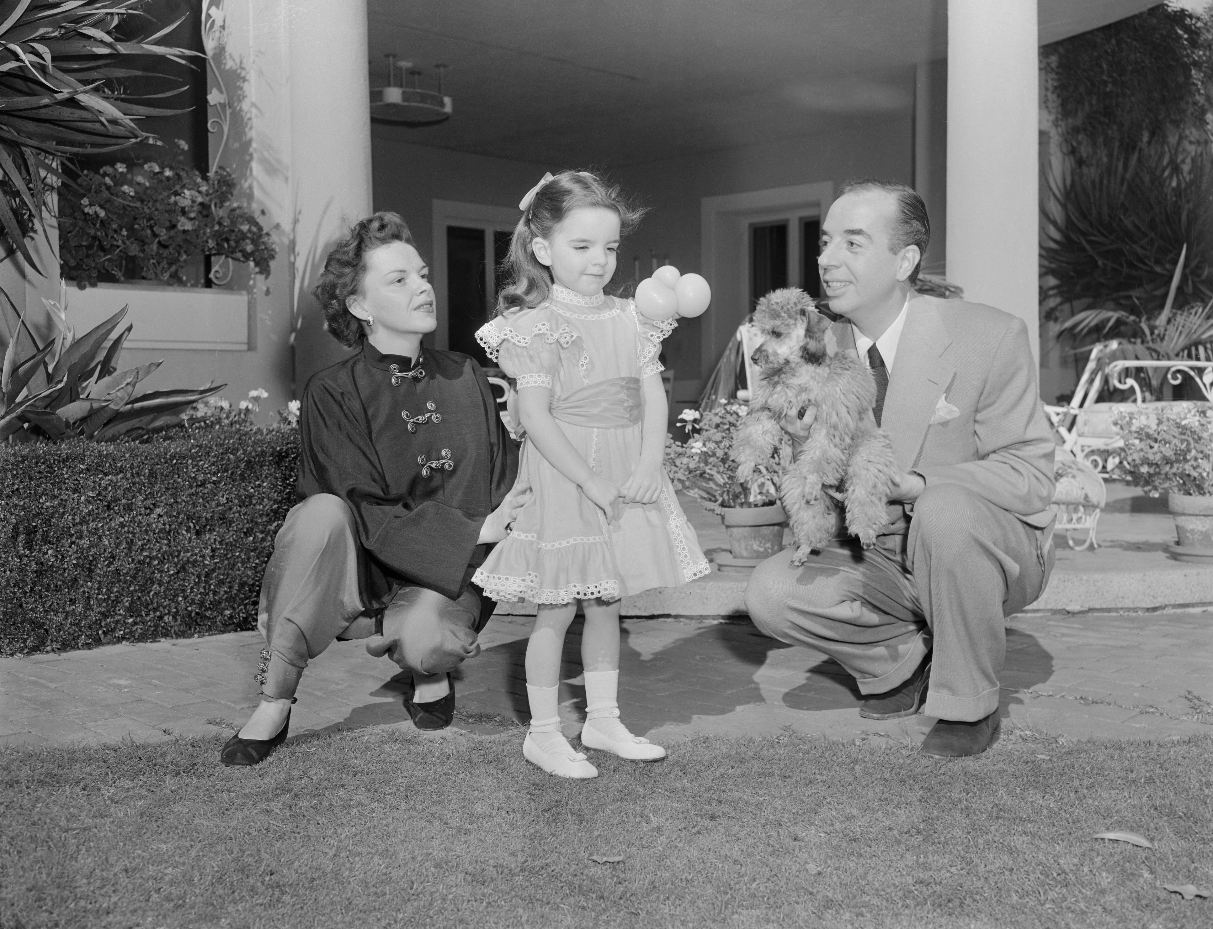 Judy Garland with her husband, director Vincente Minnelli, and their daughter Liza Minnelli.