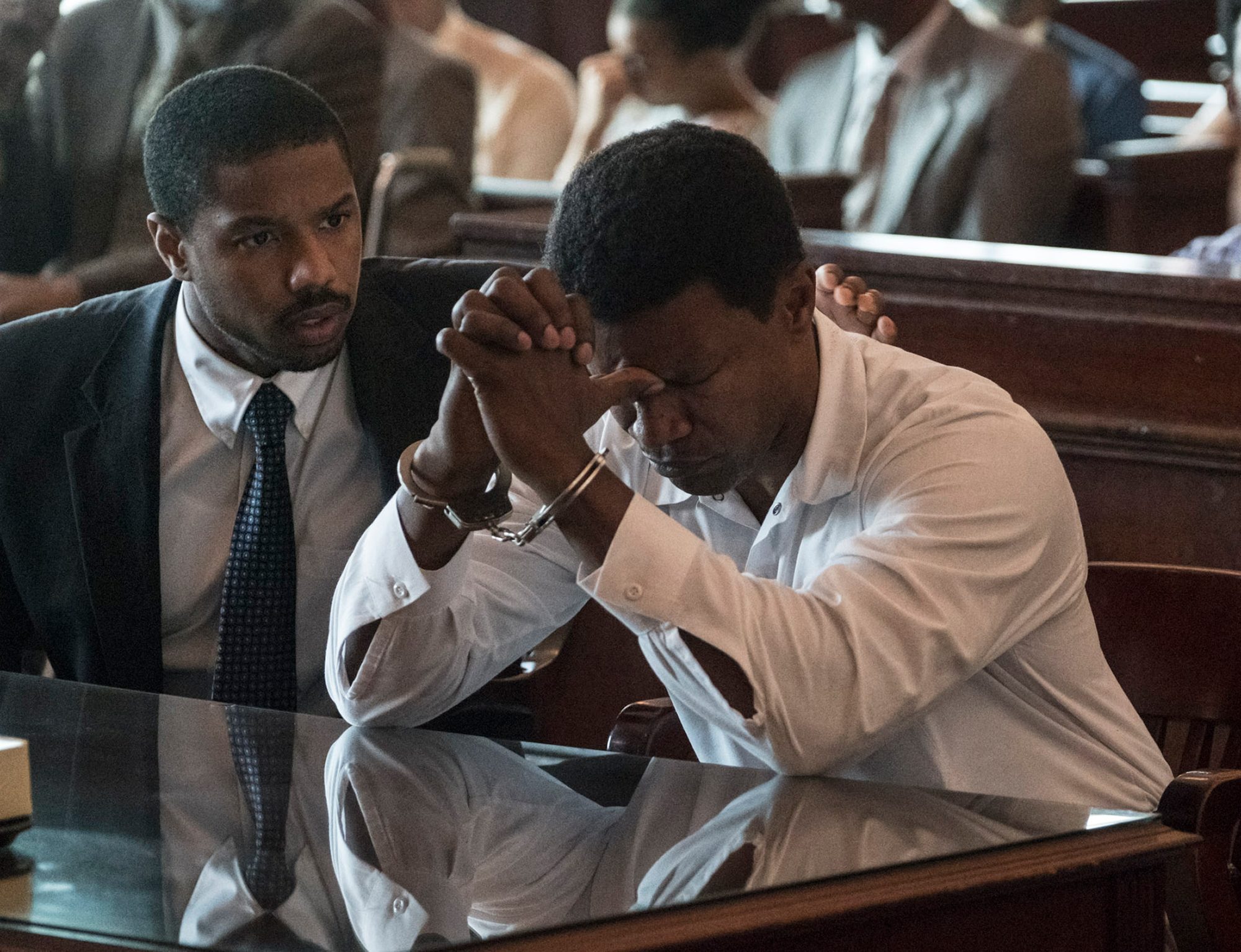Jordan and Foxx star as Stevenson and McMillian in Just Mercy
