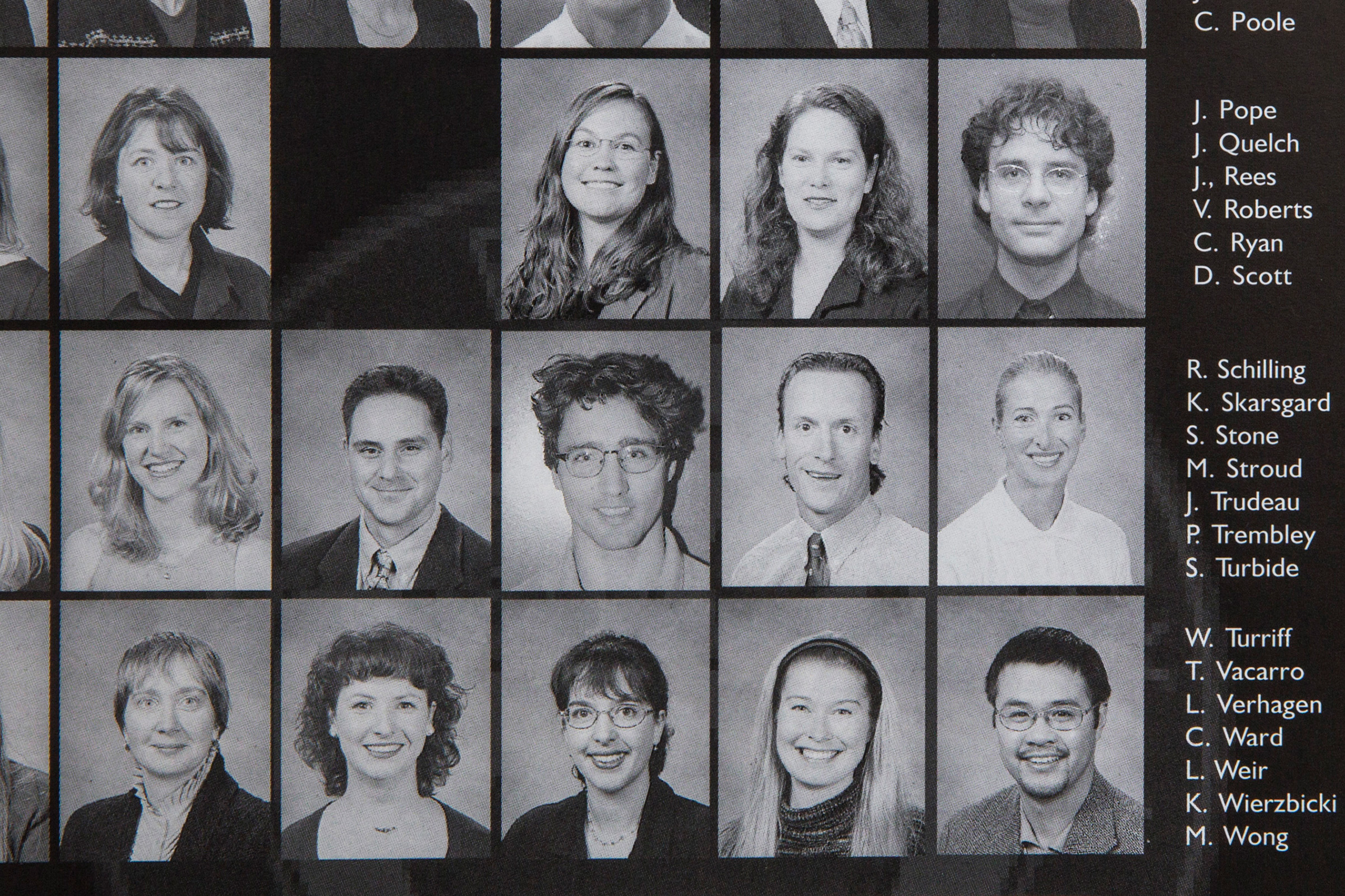 The yearbook shows Trudeau among the staff at West Point Grey, a private day school. He downplayed his experience there during his campaign in 2015.