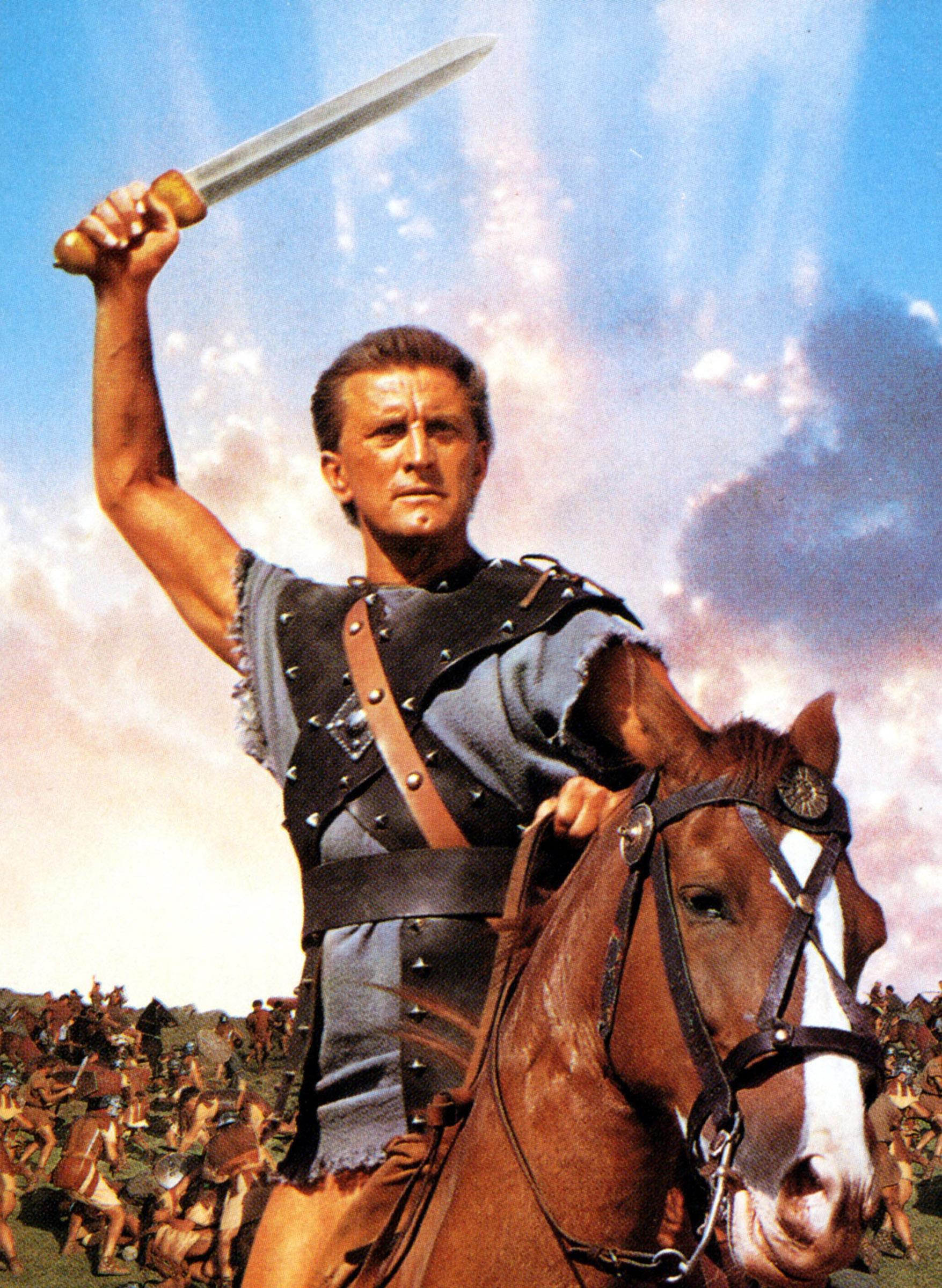 Kirk Douglas as Spartacus in 1960.