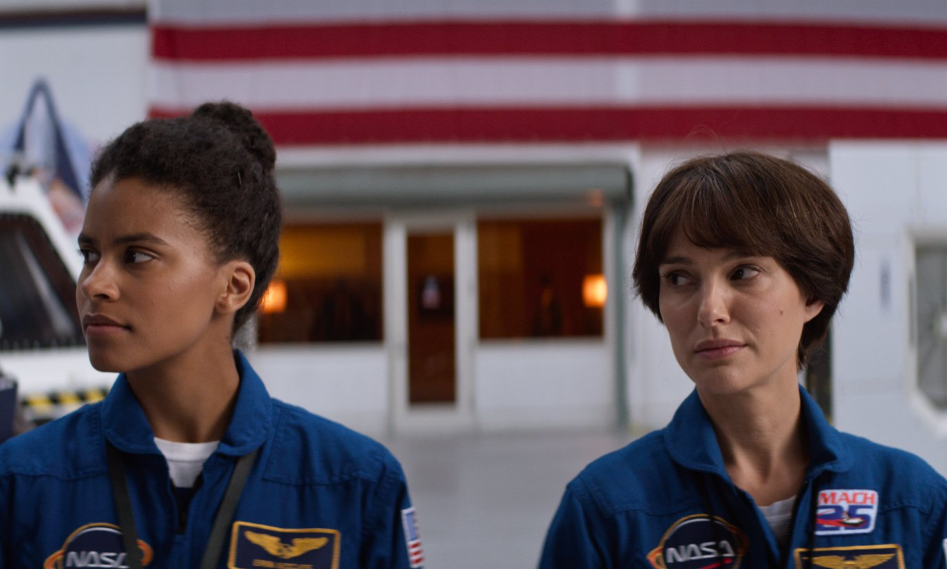 Erin(Zazie Beetz) and Natalie Portman (Lucy) play astronauts competing for a spot on an upcoming space mission in Lucy in the Sky