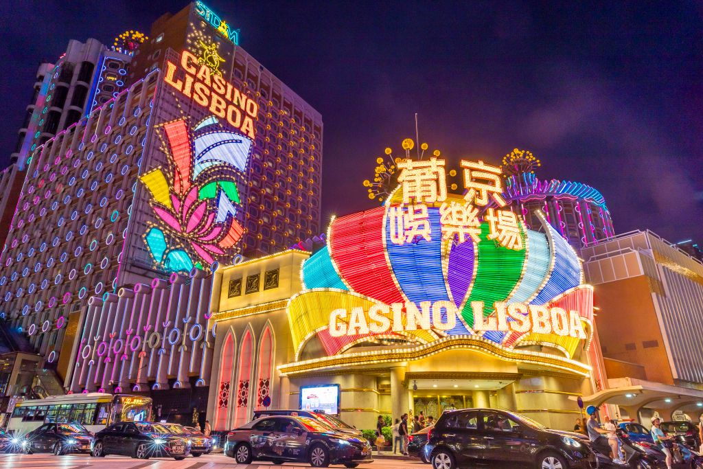 Casino Lisboa in Macau, on July 18, 2018.