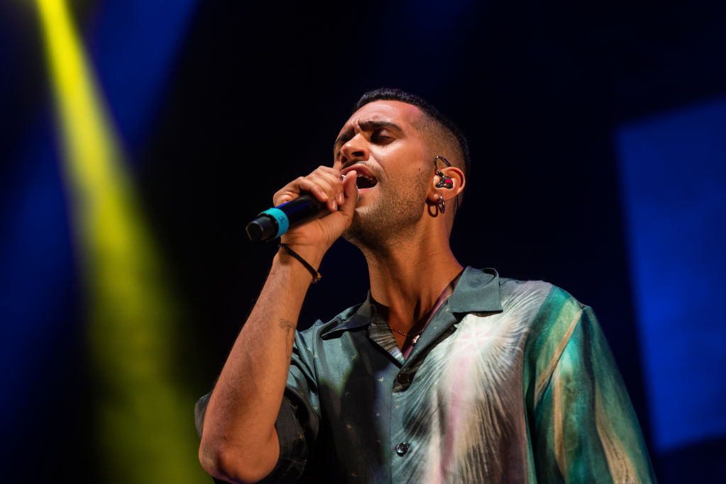 Mahmood performs at Giffoni Film Festival 2019 on July 27, 2019 in Giffoni Valle Piana, Italy.