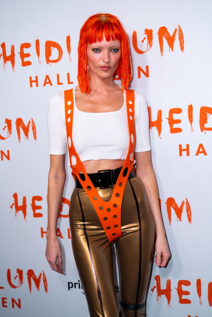 Martha Hunt attends Heidi Klum's 20th Annual Halloween Party at Cathédrale on October 31, 2019 in New York City.