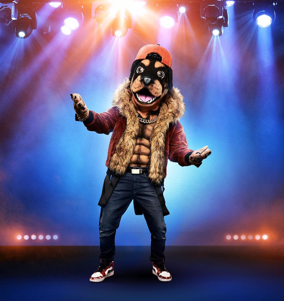 THE MASKED SINGER: The Rottweiler.