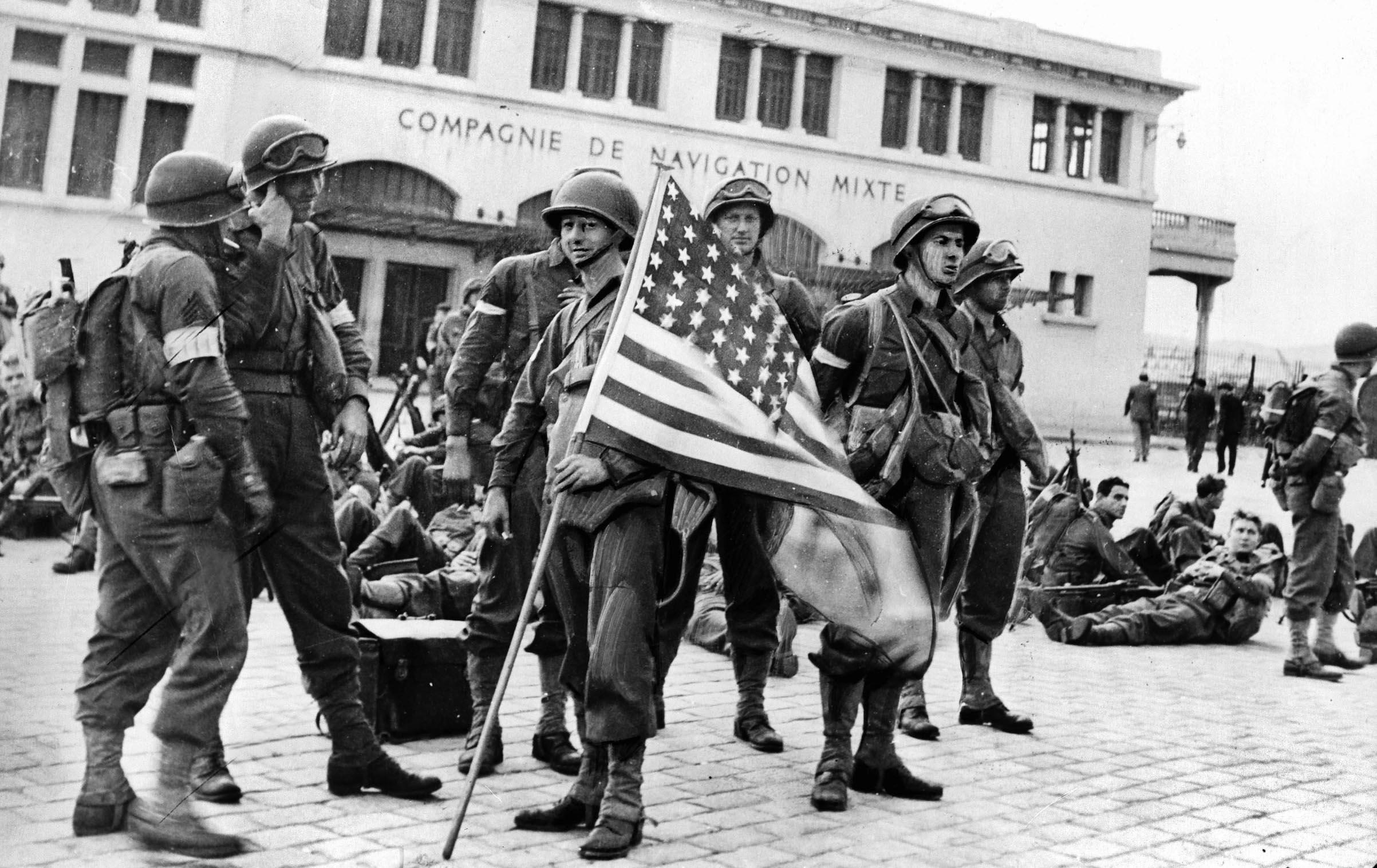 The American landing in Casablanca, Morocco, November 1942.