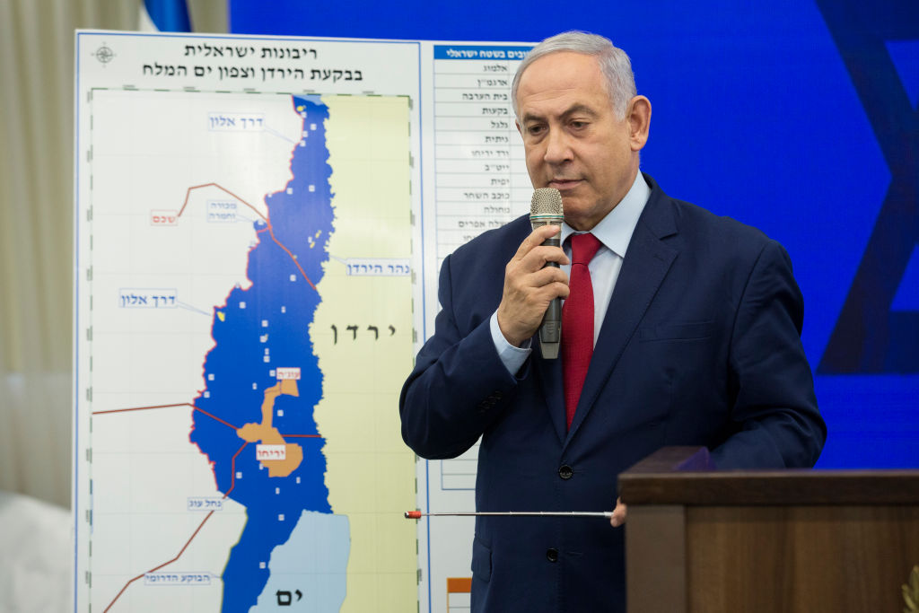 Israeli Prime Minster Benjamin Netanyahu speaks during his announcement on September 10, 2019 in Ramat Gan, Israel. Netanyahu pledges to annex Jordan Valley in Occupied West Bank if Re-Elected.
