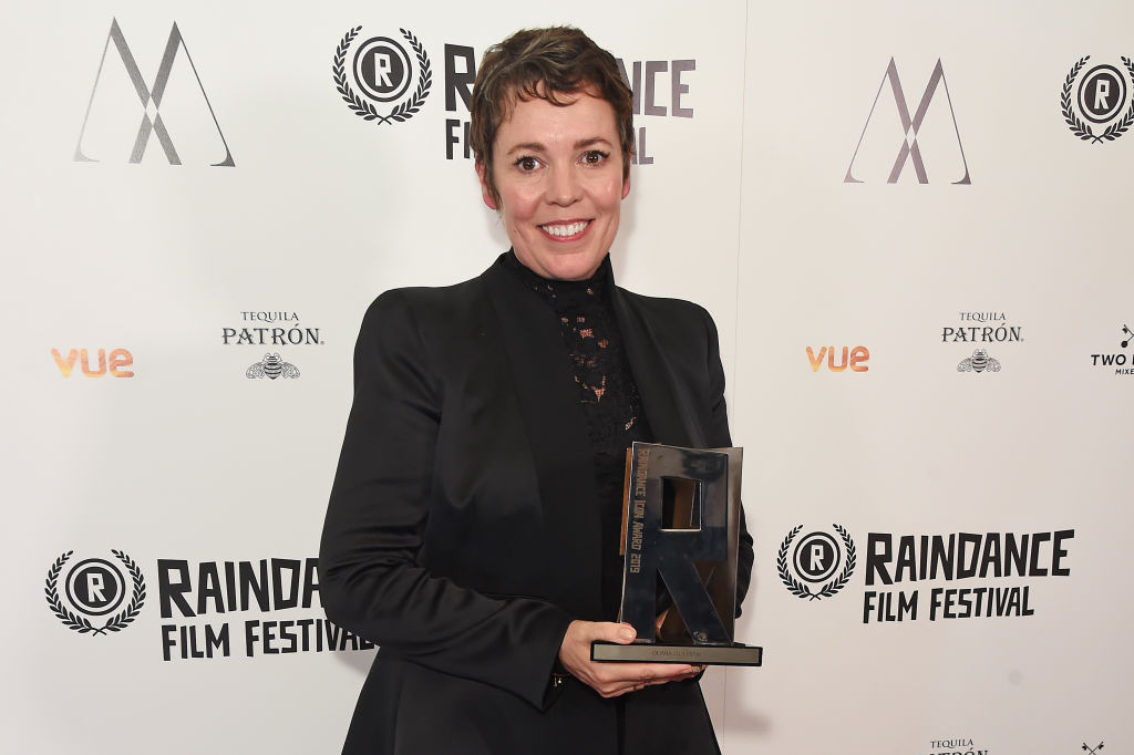 Winner of the Raindance 2019 Icon Award Olivia Colman attends the Raindance Film Festival's Special Soiree at The May Fair Hotel on August 20, 2019 in London, England.