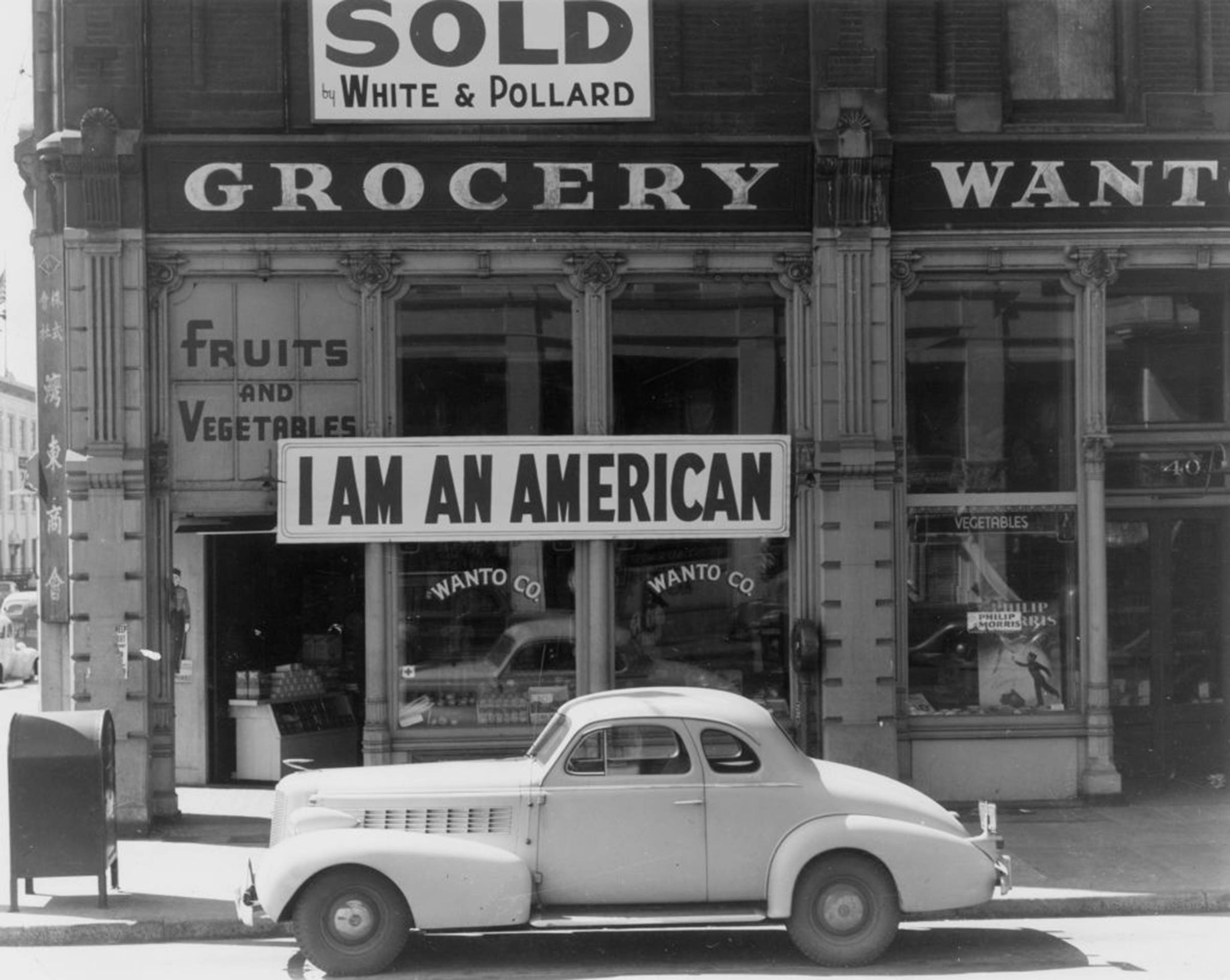 The day after Pearl Harbor, and following evacuation orders for Japanese living in America, the owner of this shop in Oakland, California, who was a University of California graduate of Japanese descent, put this notice across his shop front on Dec. 8, 1941.