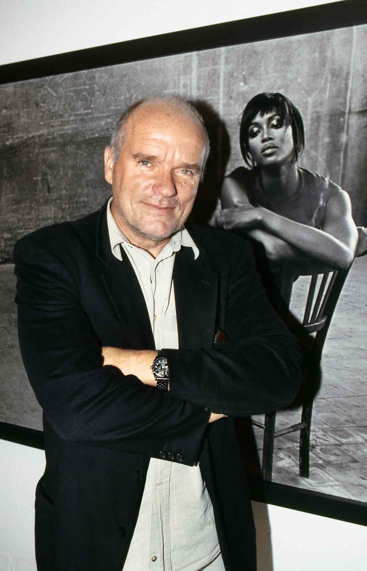 Peter Lindbergh attends his exhibition in Milan in 2000
