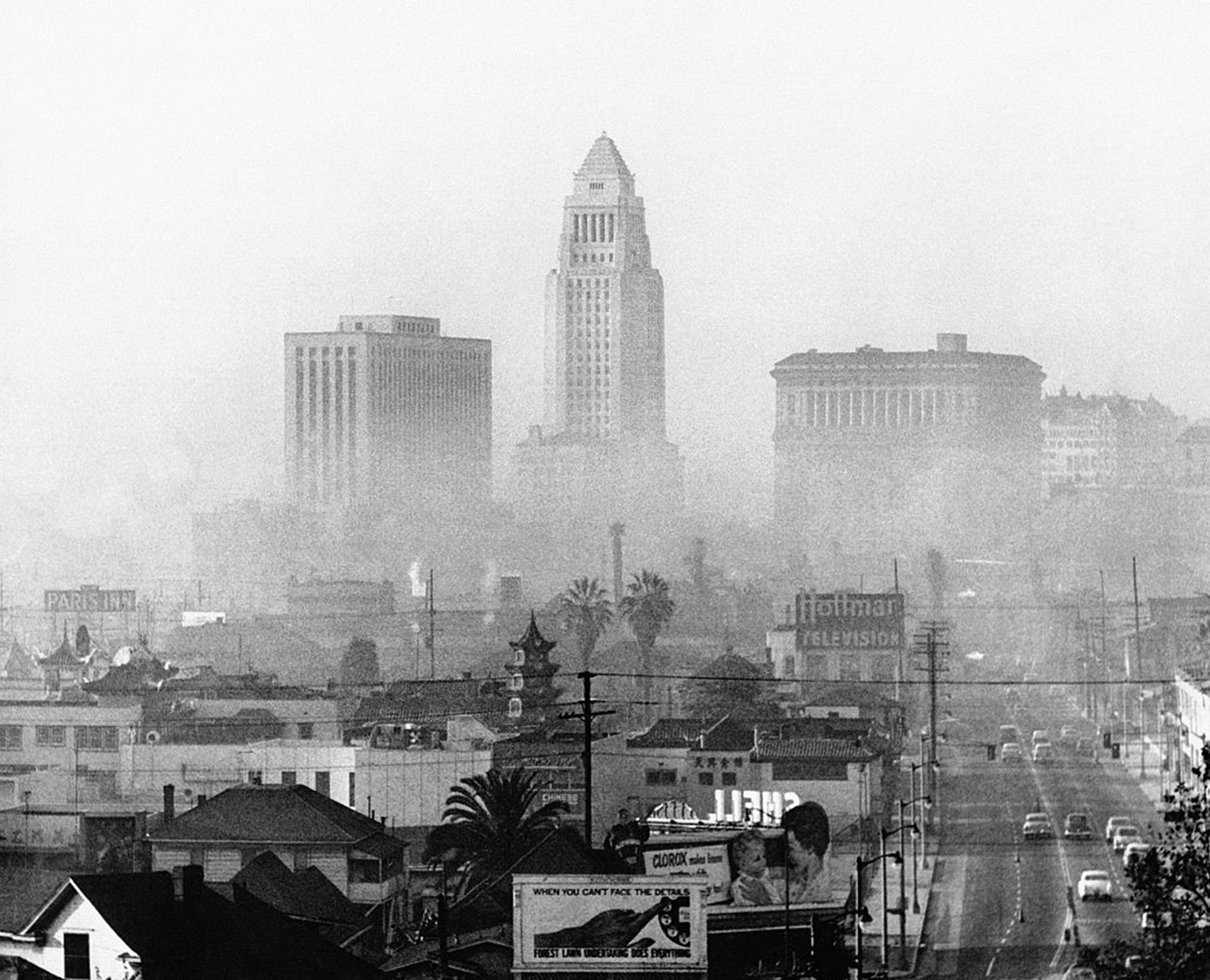 The Los Angeles skyline circa 1970.