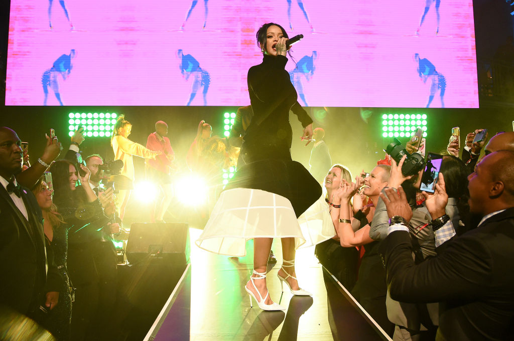 Rihanna performs onstage during Rihanna's 5th Annual Diamond Ball Benefitting The Clara Lionel Foundation at Cipriani Wall Street on September 12, 2019 in New York City.