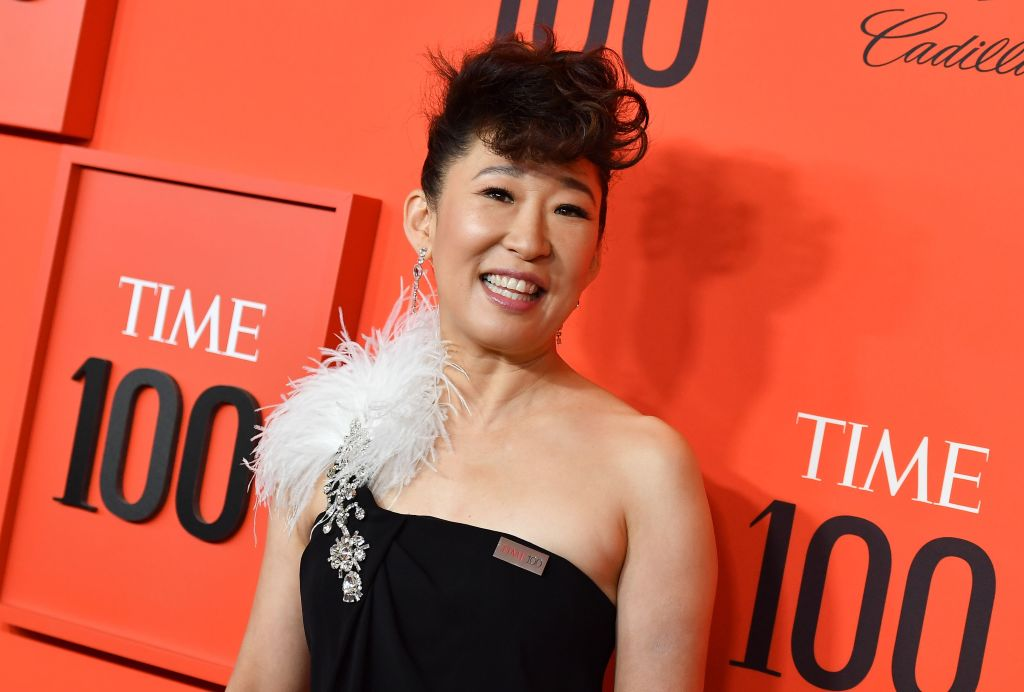 US actress Sandra Oh arrives on the red carpet for the Time 100 Gala at the Lincoln Center in New York on April 23, 2019.