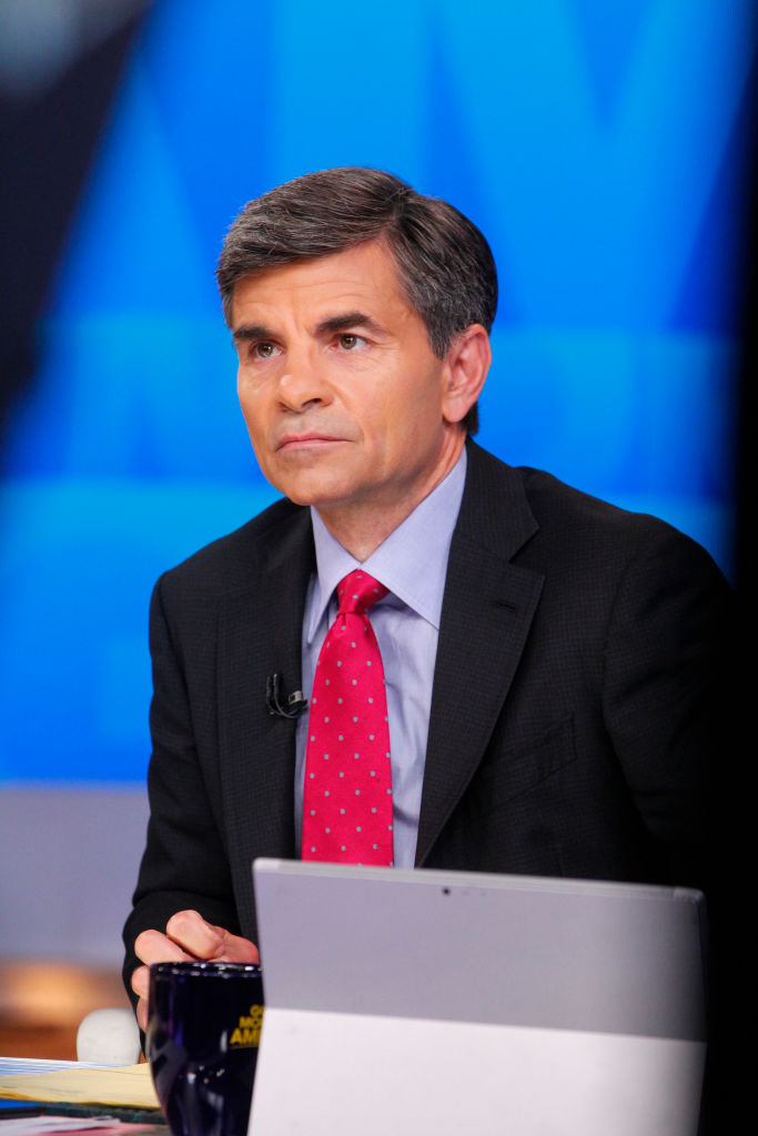 George Stephanopoulos hosting  Good Morning America  in 2017.