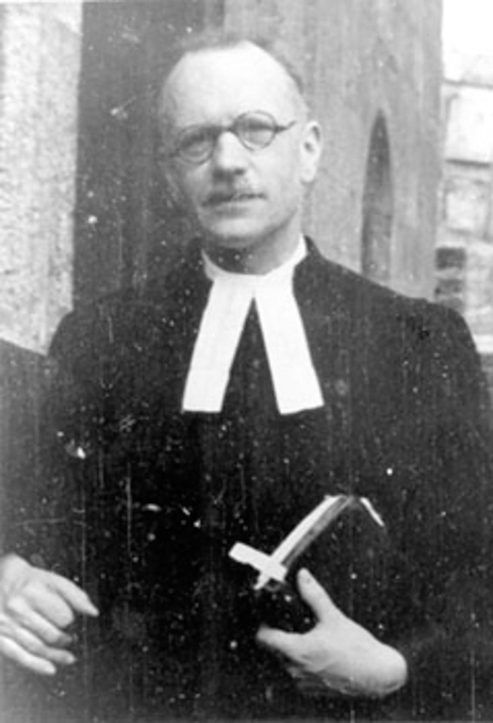 Pastor André Trocmé in Vivarais-Lignon. During World War II, Trocmé set up homes for Jewish children.