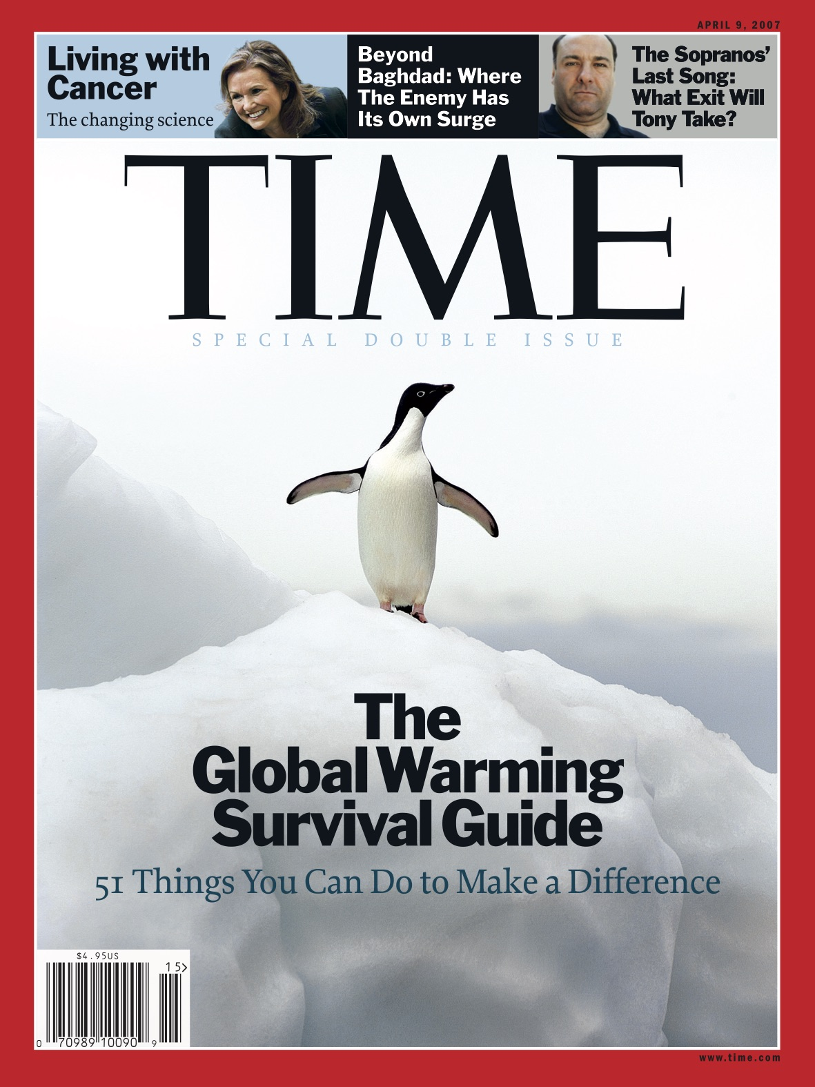 TIME's cover on global warming from April 9, 2007.
