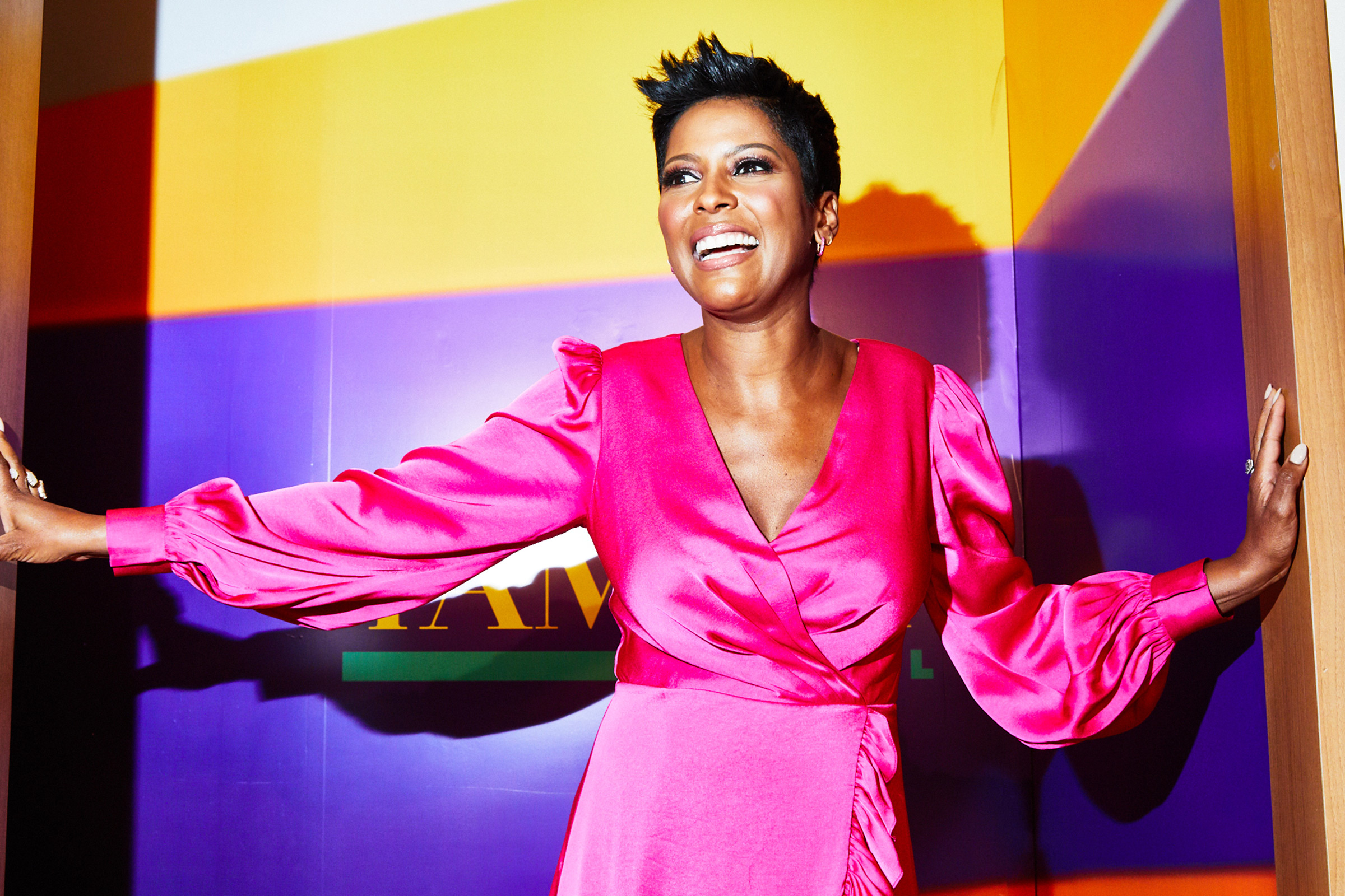 Talk show host Tamron Hall photographed on the set of her new show Aug. 28, 2019
