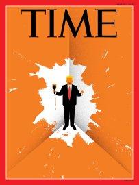 Trump Cornered Time Magazine cover