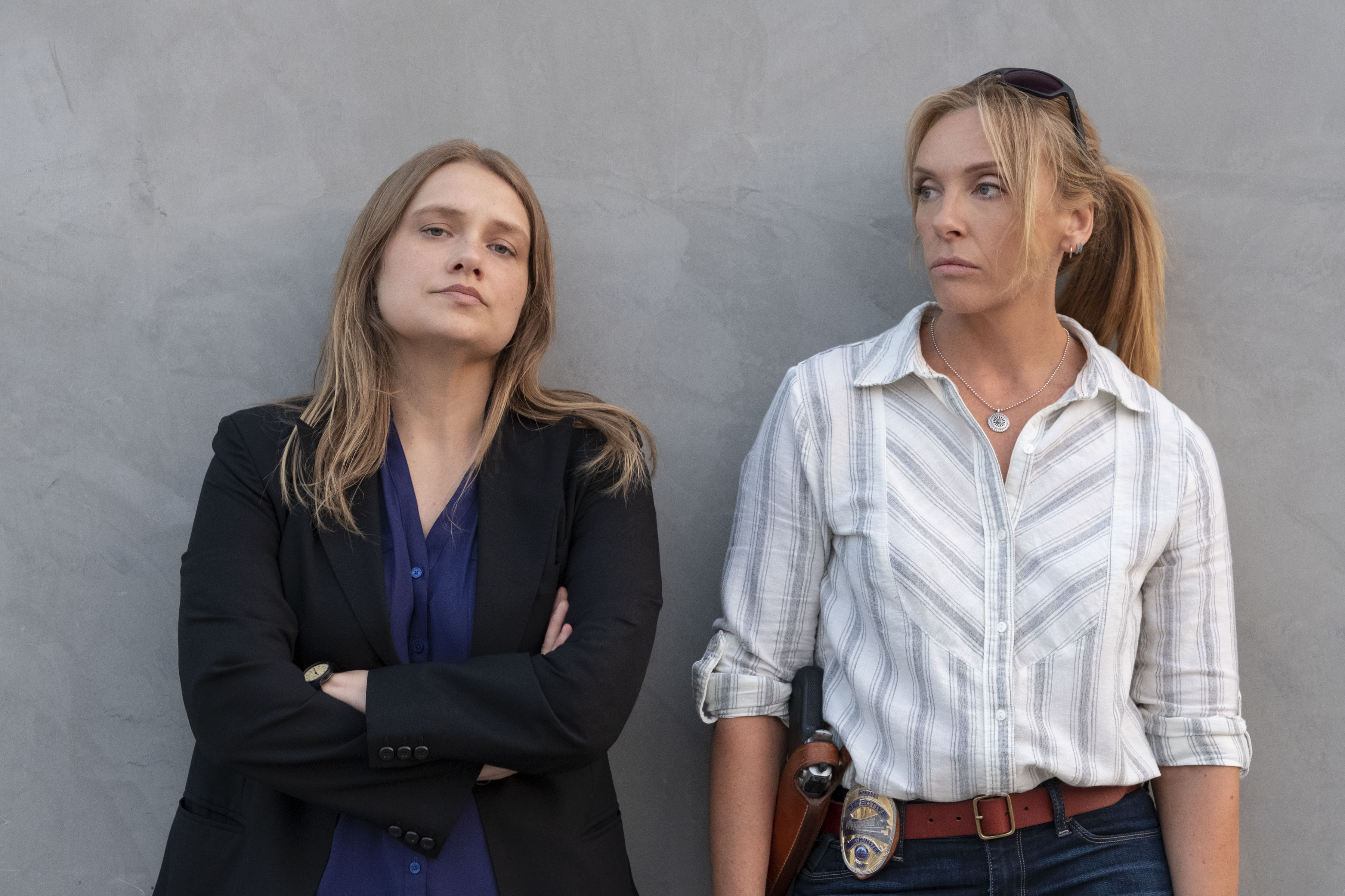 Merritt Wever and Toni Collette in 'Unbelievable'