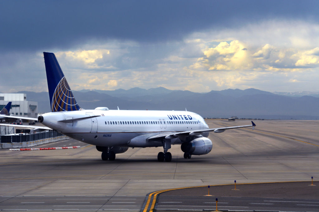 A United Airlines Airbus A320 passenger jet taxis at Denver International Airport in Denver on Sept. 4, 2019.