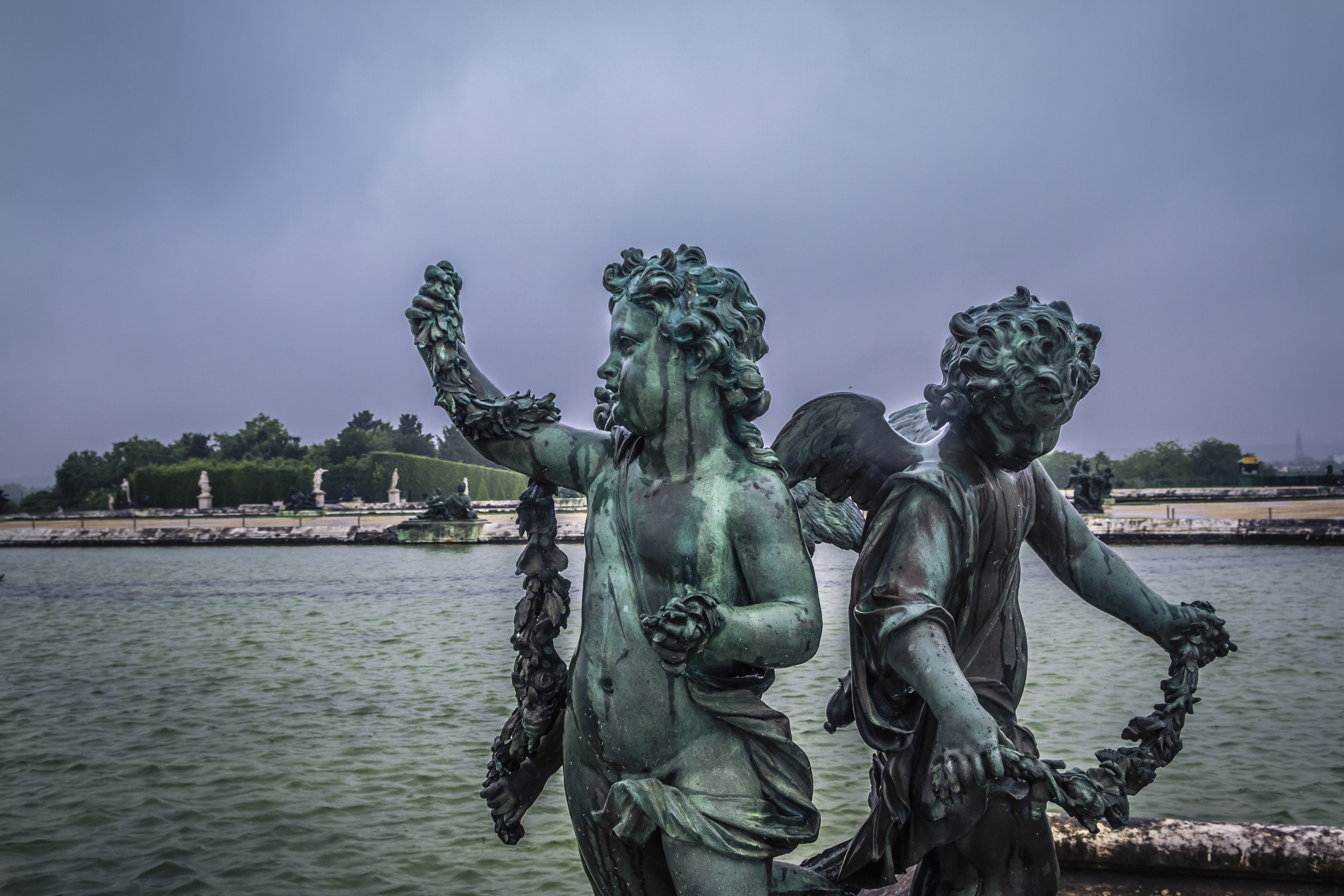 Statues in the Versailles palace gardens