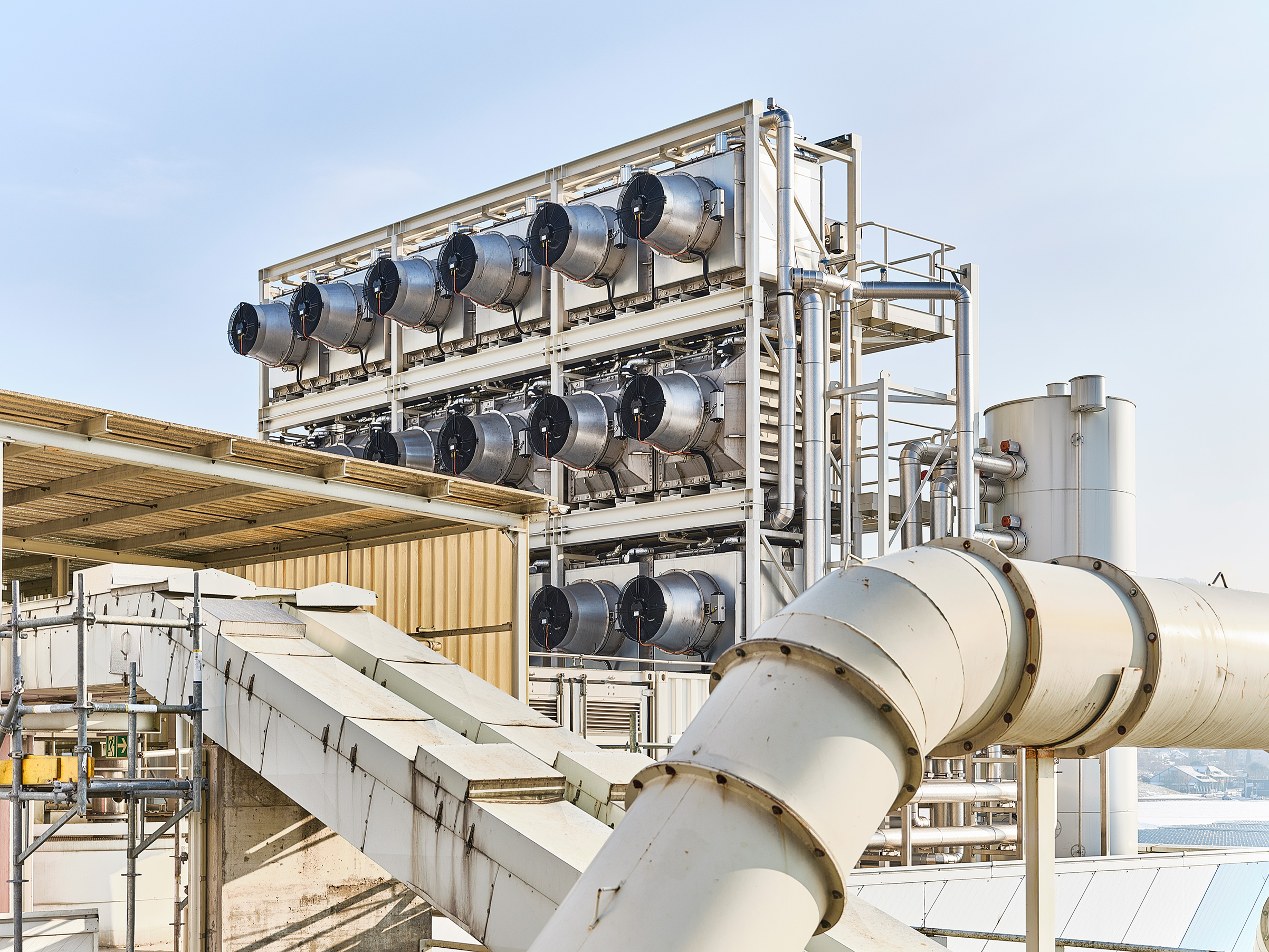Negative-emissions plants like this one by Swiss firm Climeworks filter CO₂ directly out of the air