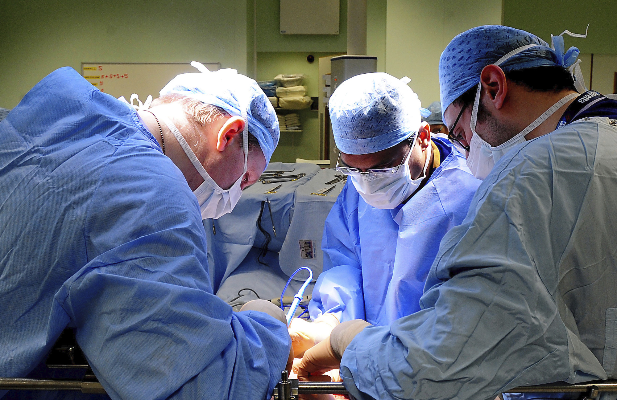 Weight loss surgery being performed on July 4, 2011.