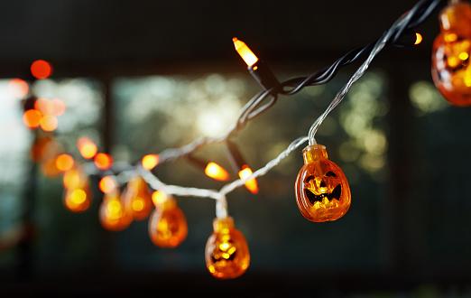 Pumpkin electric light string