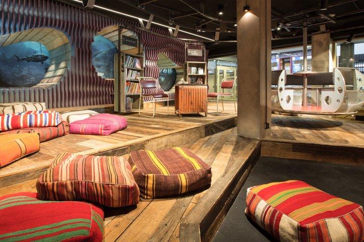 Inside of Biblo Toyen in Norway.