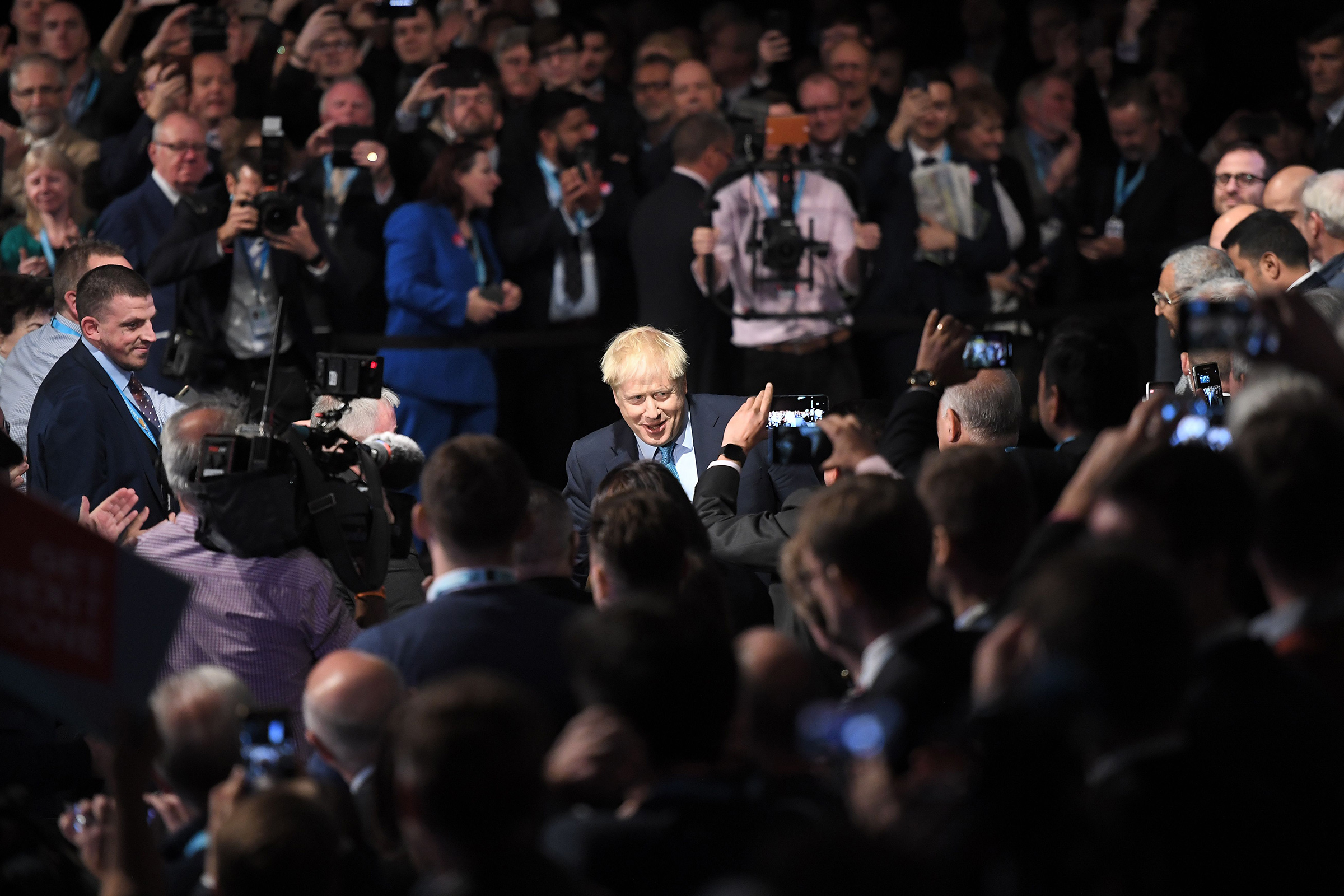 Even amid scandal, Boris Johnson was hailed by many at the U.K.'s Conservative Party conference on Oct.2
