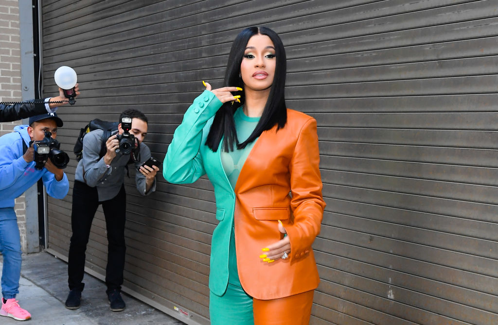 Singer Cardi B is seen in Soho on October 10, 2019 in New York City.