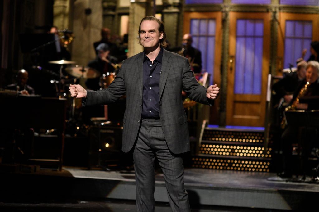 David Harbour delivers the monologue on Saturday Night Live on Oct. 12, 2019.