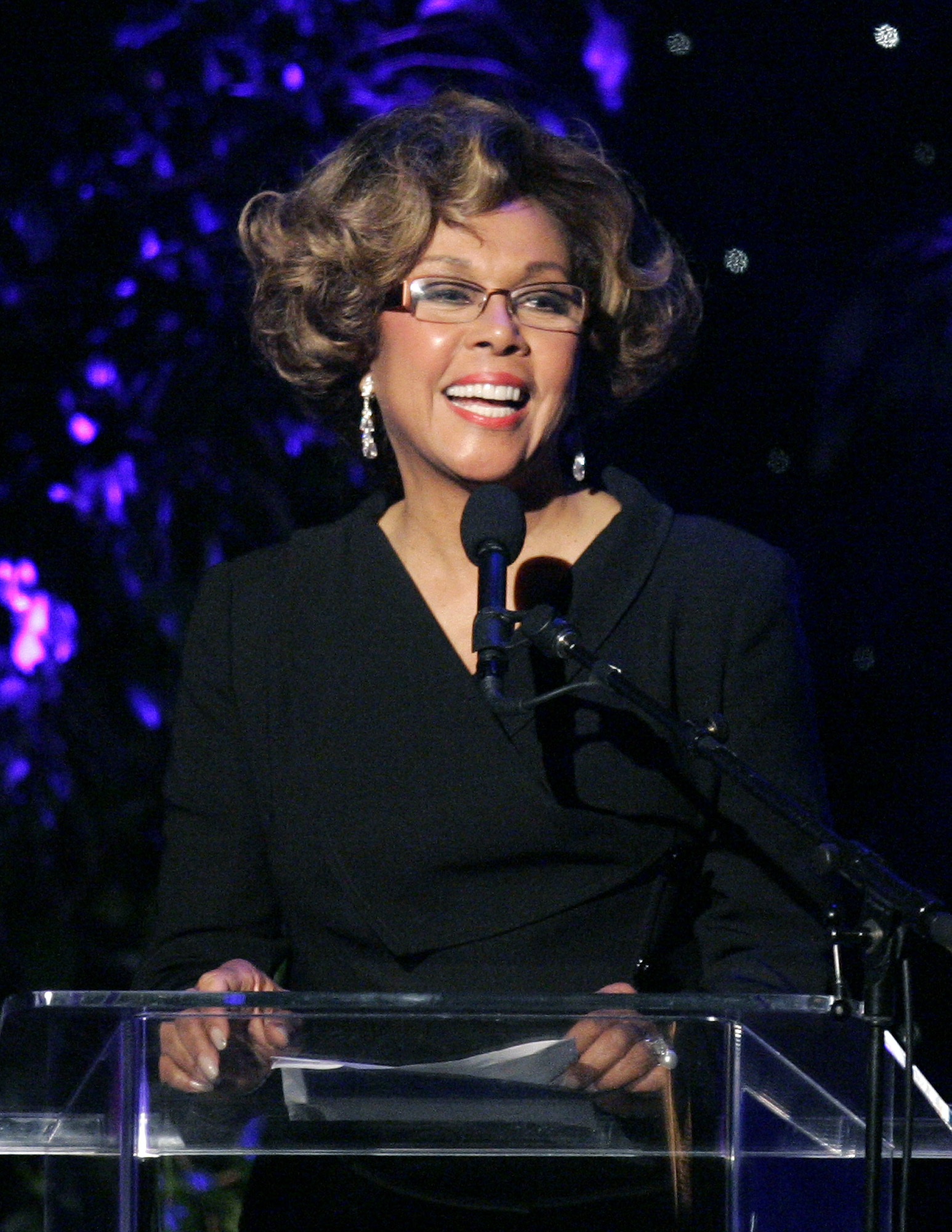 This June 14, 2007 file photo shows Diahann Carroll speaking at the 2007 Crystal and Lucy Awards in Beverly Hills, Calif. Carroll died, Friday, Oct. 4, 2019, at her home in Los Angeles after a long bout with cancer.  She was 84.