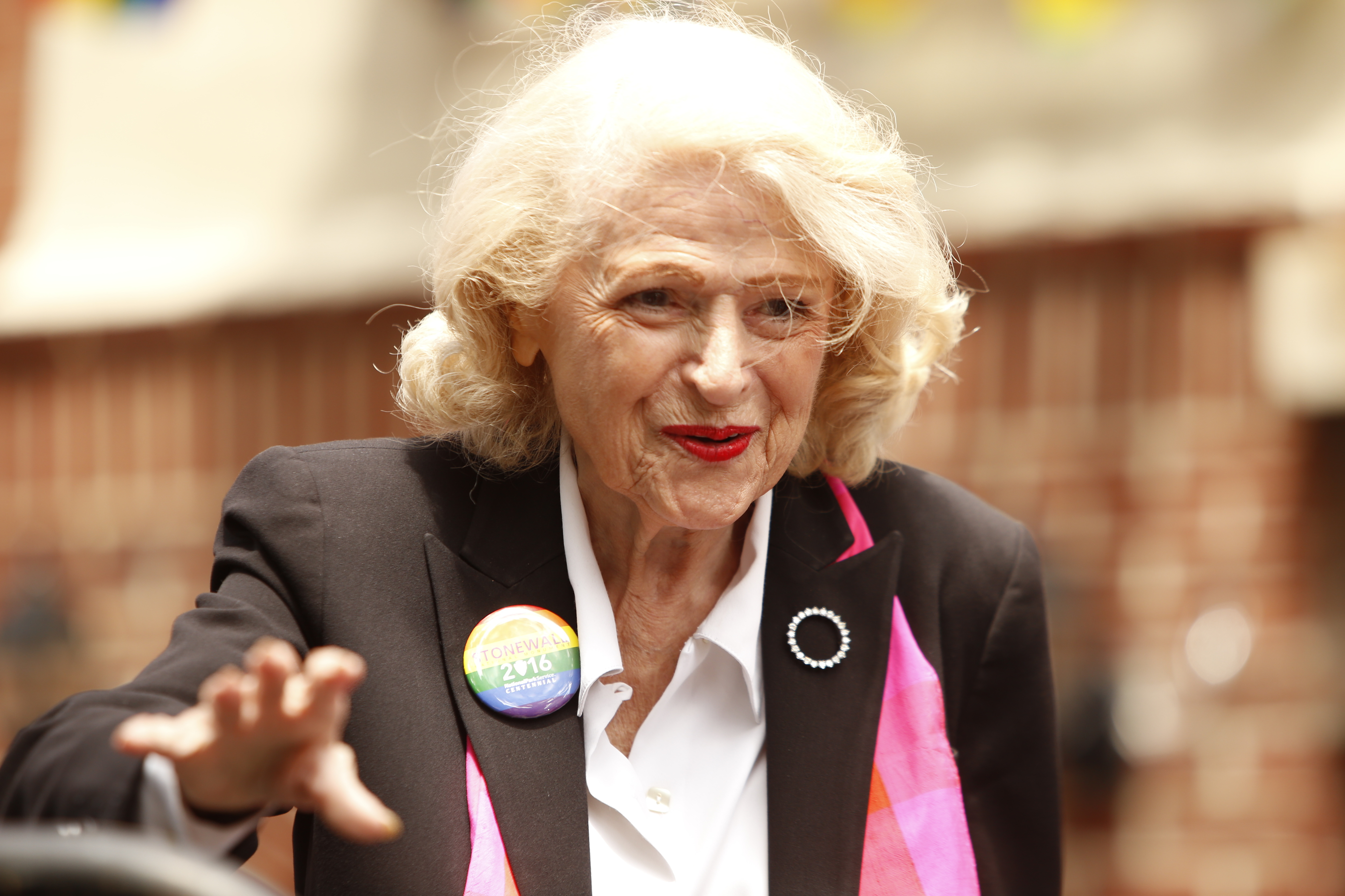 Marriage equality pioneer Edie Windsor in New York City on June 27, 2016.