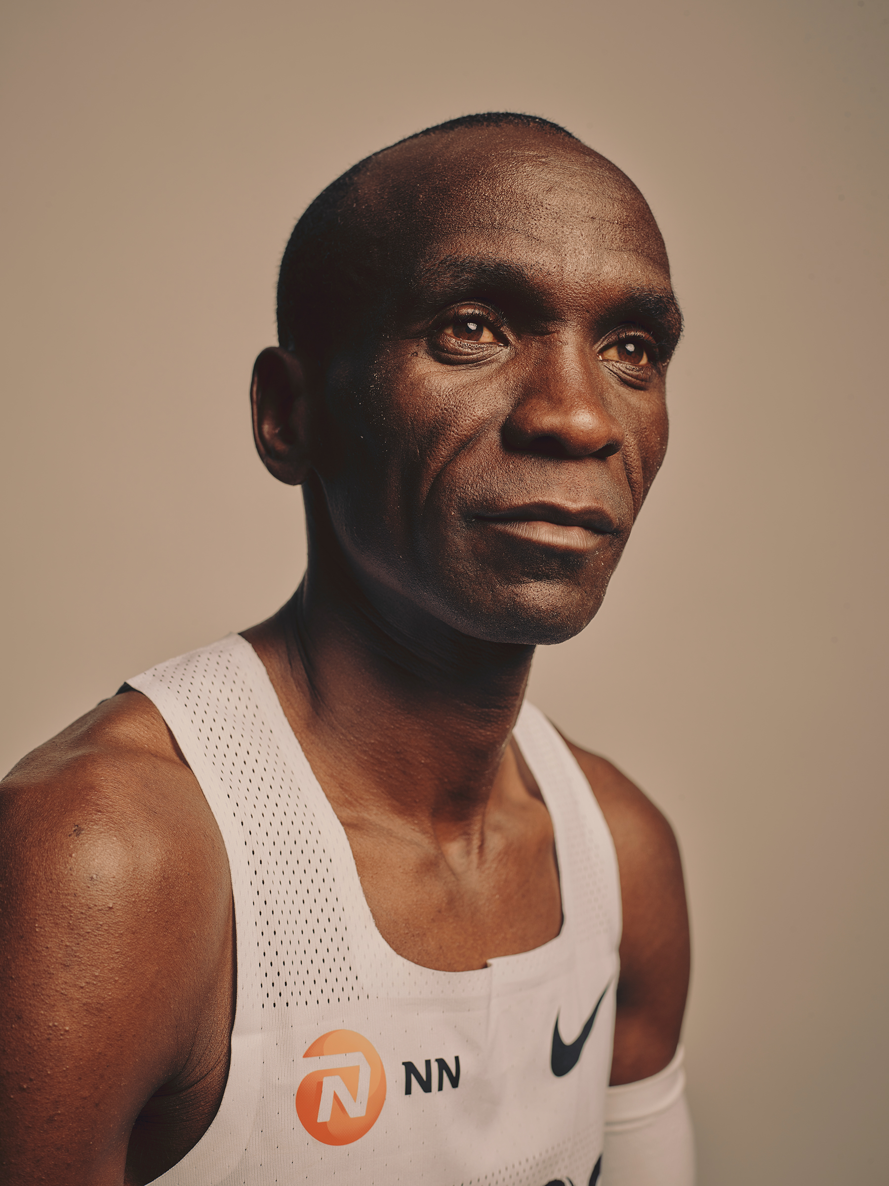 Eliud Kipchoge, photographed after his historic race in Vienna, on Oct. 12.