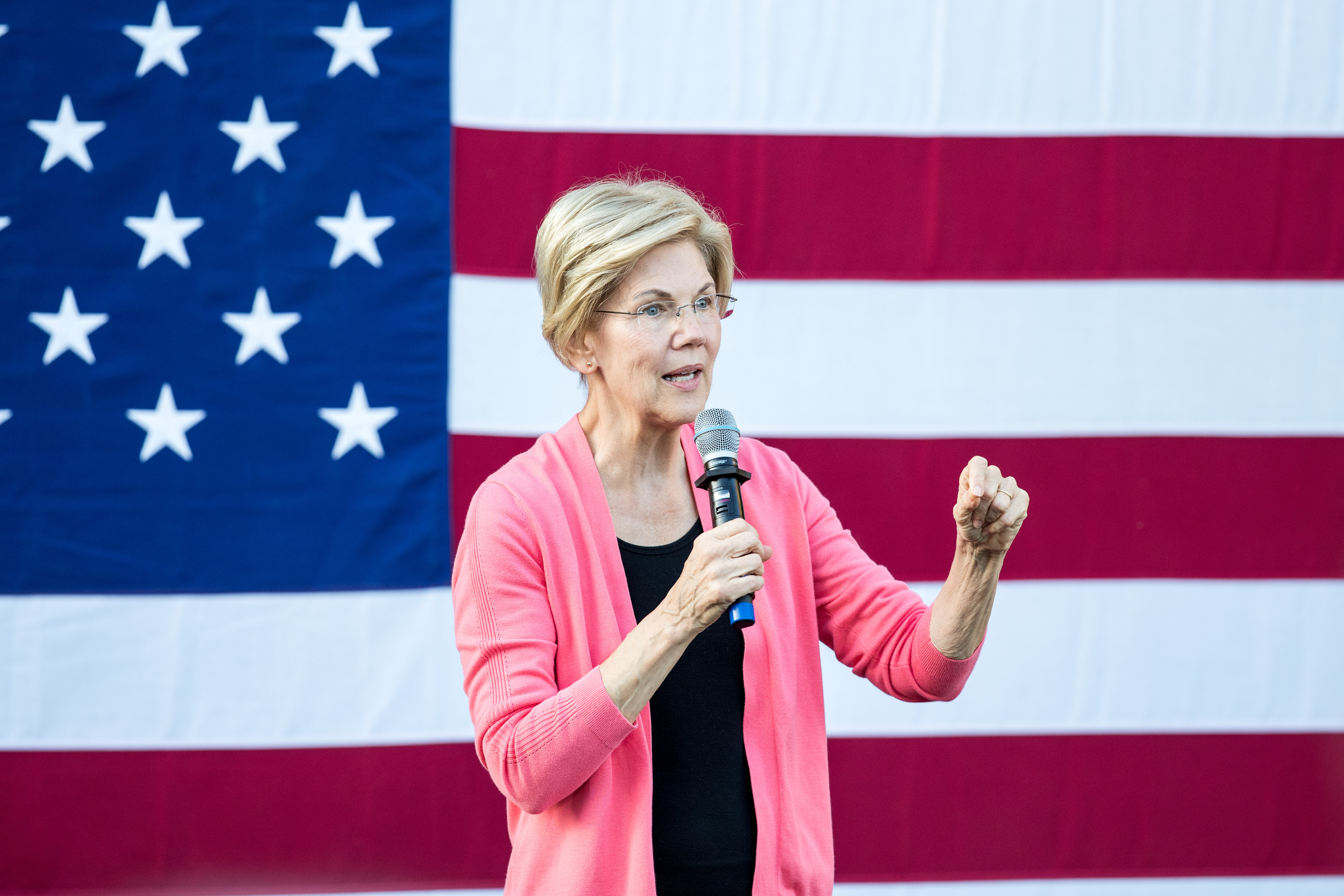 Democratic presidential candidate Sen. Elizabeth Warren (D-MA) speaks during a Town Hall at Keene State College on Sept. 25, 2019 in Keene, New Hampshire.