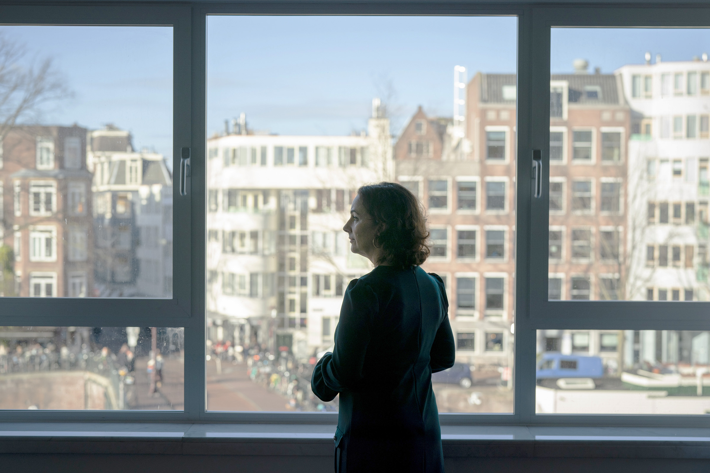 Femke Halsema, mayor of Amsterdam, poses for a photograph in her office in Amsterdam, Netherlands, on Nov. 30, 2018.