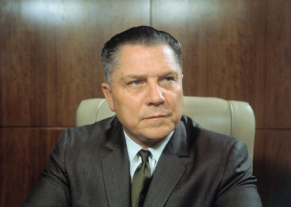 Jimmy Hoffa, president of the teamsters union, was at one point one of the most powerful men in the U.S.