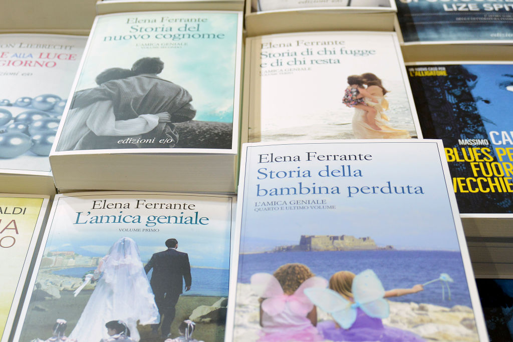L'amica Geniale, the book by Elena Ferrante at Piu Libri Piu Liberi Publishing Fair at the Convention Center La Nuvola, on December 6, 2017 in Rome, Italy.