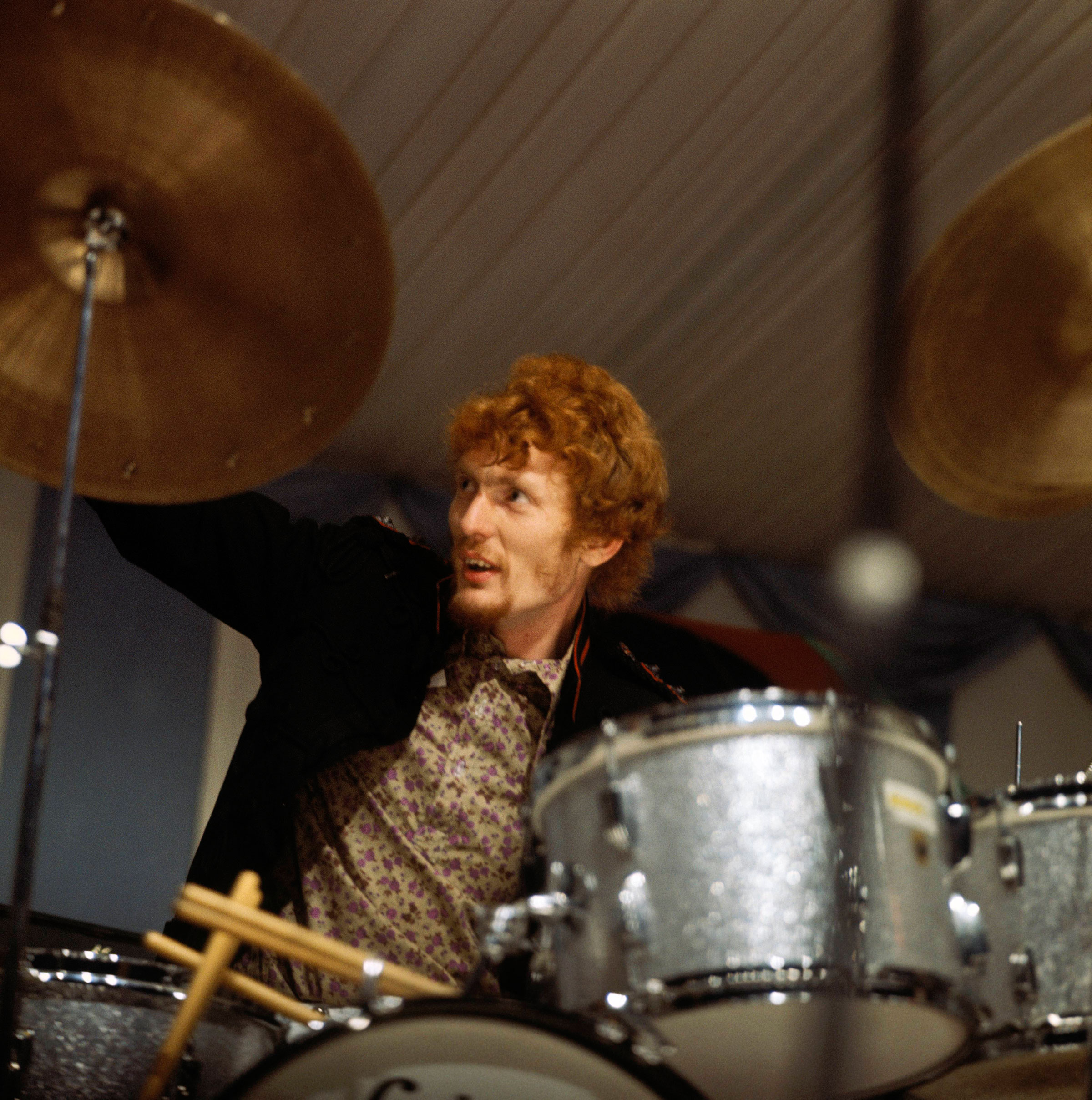 Ginger Baker performs with Cream at Windsor Festival