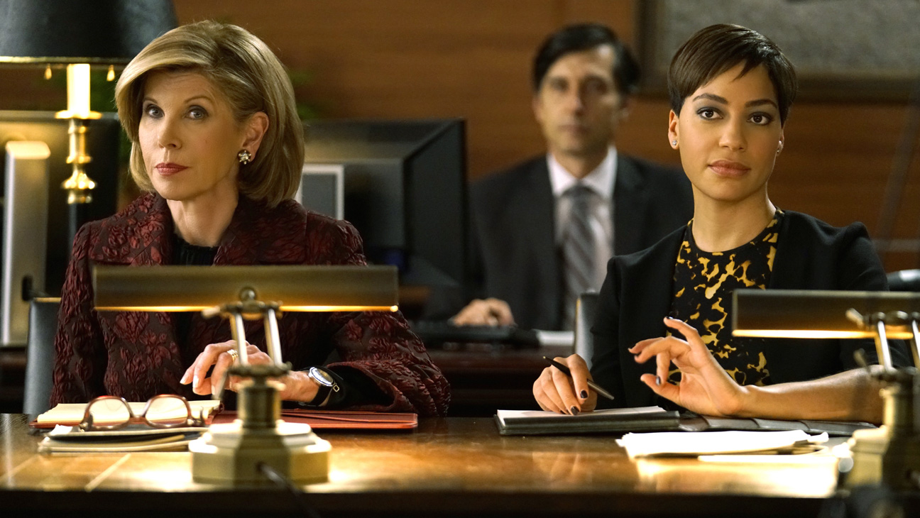 (l-r) Christine Baranski as Diane Lockhart, Cush Jumbo as Lucca Quin