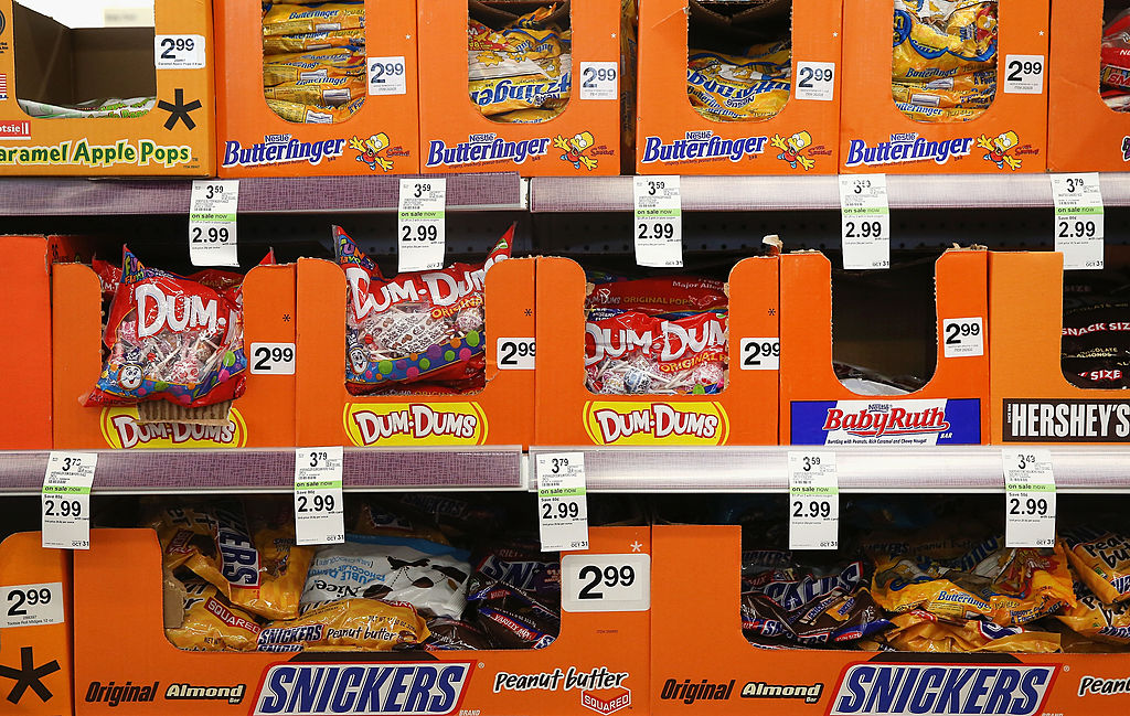 Halloween candy is offered for sale at a Walgreens store on Sept. 19, 2013 in Wheeling, Ill.