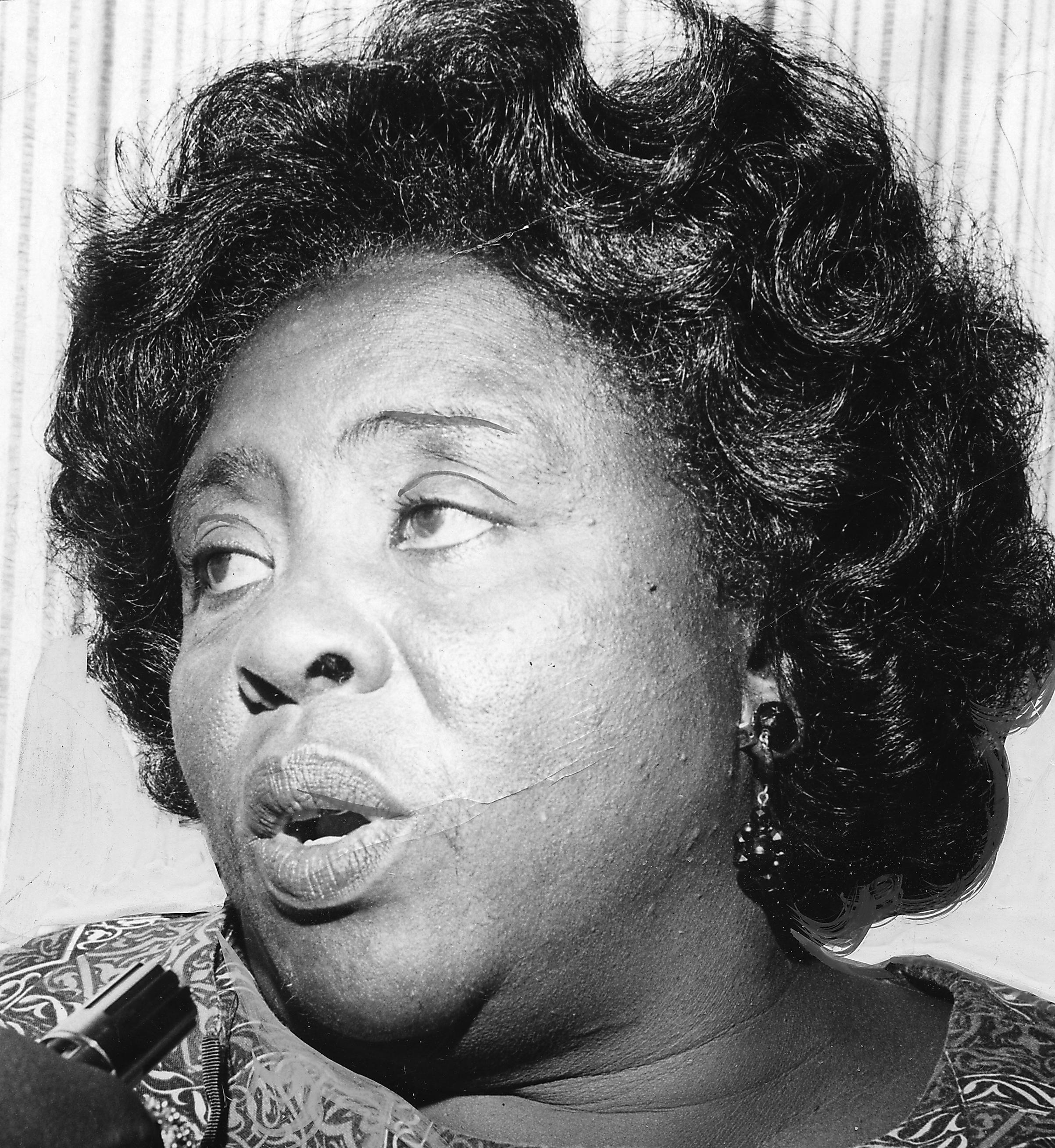 Portrait of civil rights activist and organizer Fannie Lou Hamer, 1965.