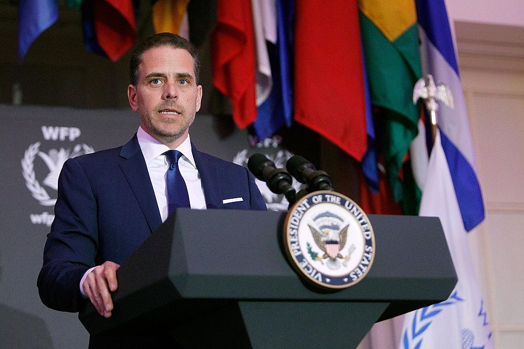 Hunter Biden speaks at a World Food Program USA award ceremony on April 12, 2016 in Washington, DC.
