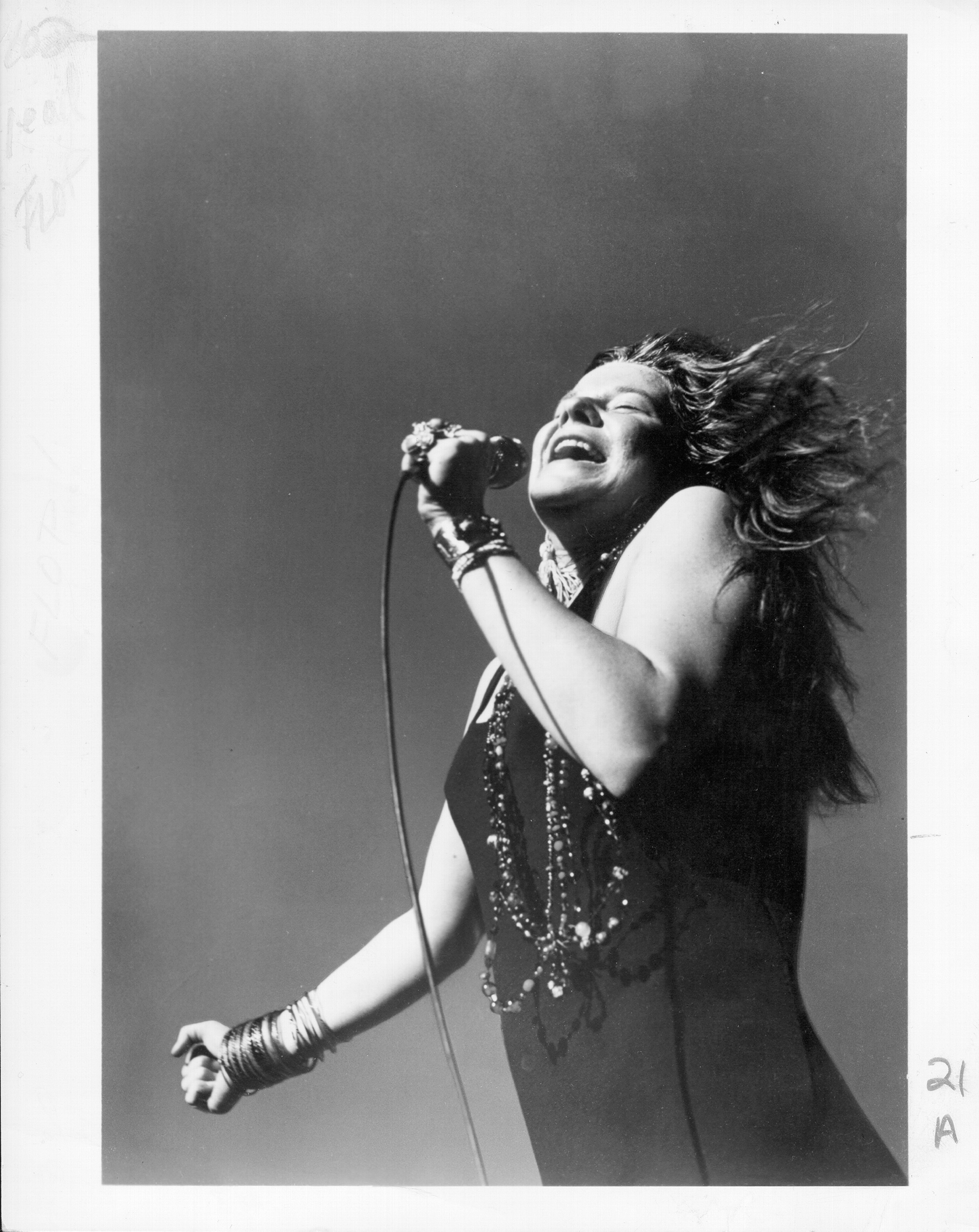 Singer Janis Joplin performs onstage at the Santa Clara County Fairgrounds for the Northern California Folk-Rock Festival on May 18, 1968 in San Jose, California.