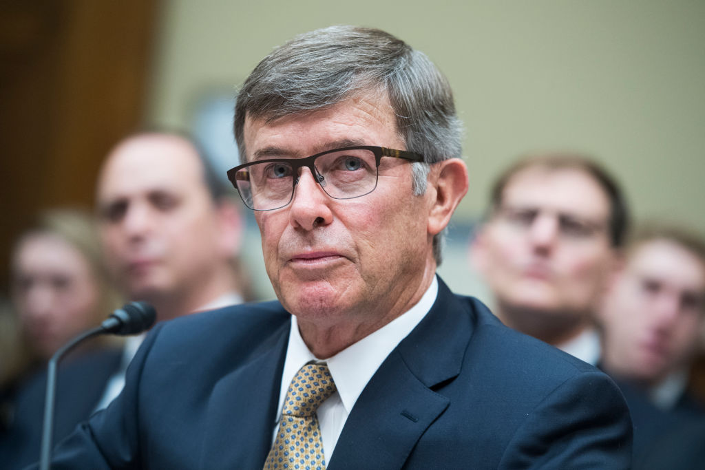 Joseph Maguire, acting director of national intelligence, testifies during the House Intelligence Committee hearing on a whistleblower complaint about a phone call between President Trump and Ukrainian President Volodymyr Zelensky on Thursday, Sept. 26, 2019.