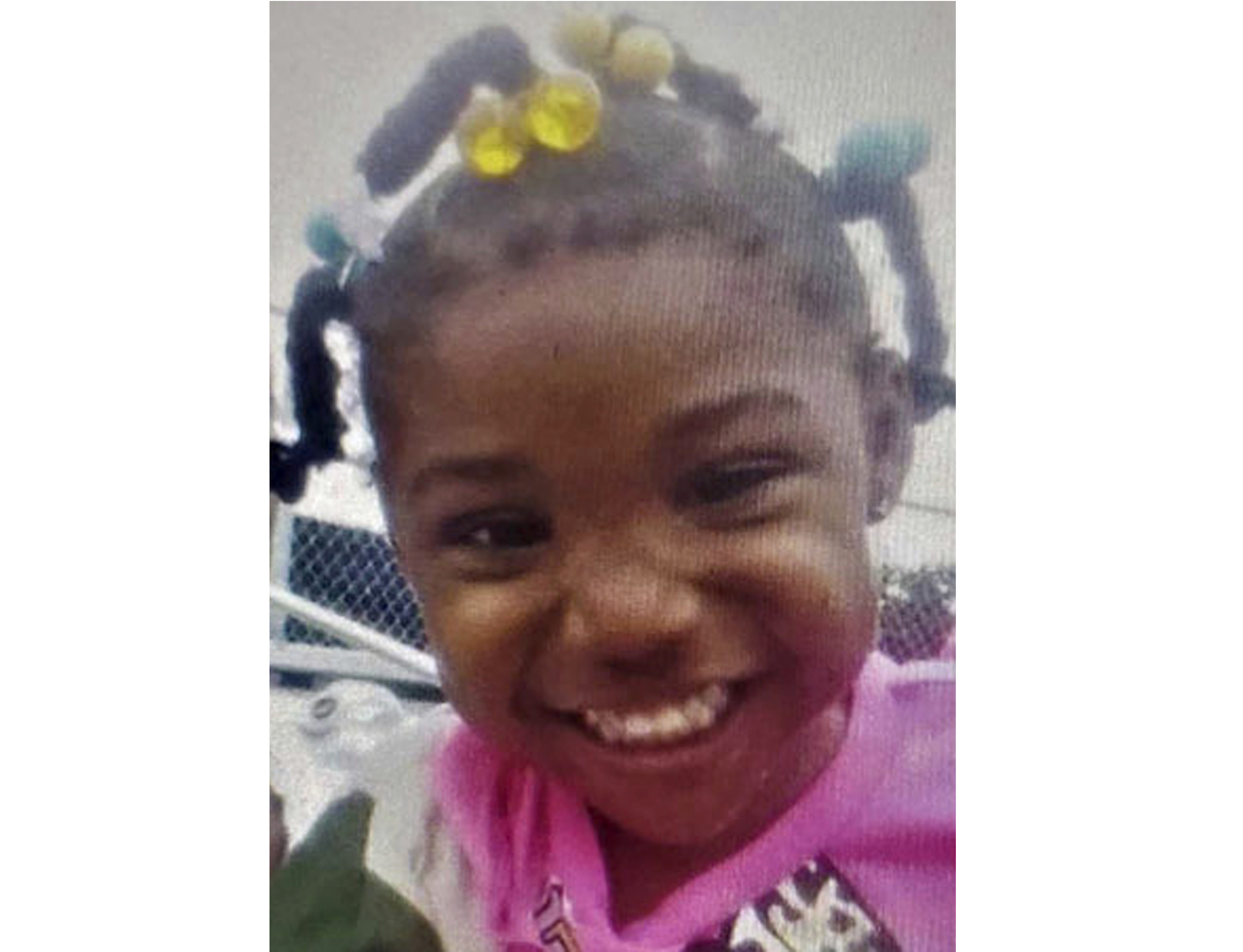 An undated file photo released by the FBI of 3-year-old Kamille McKinney.