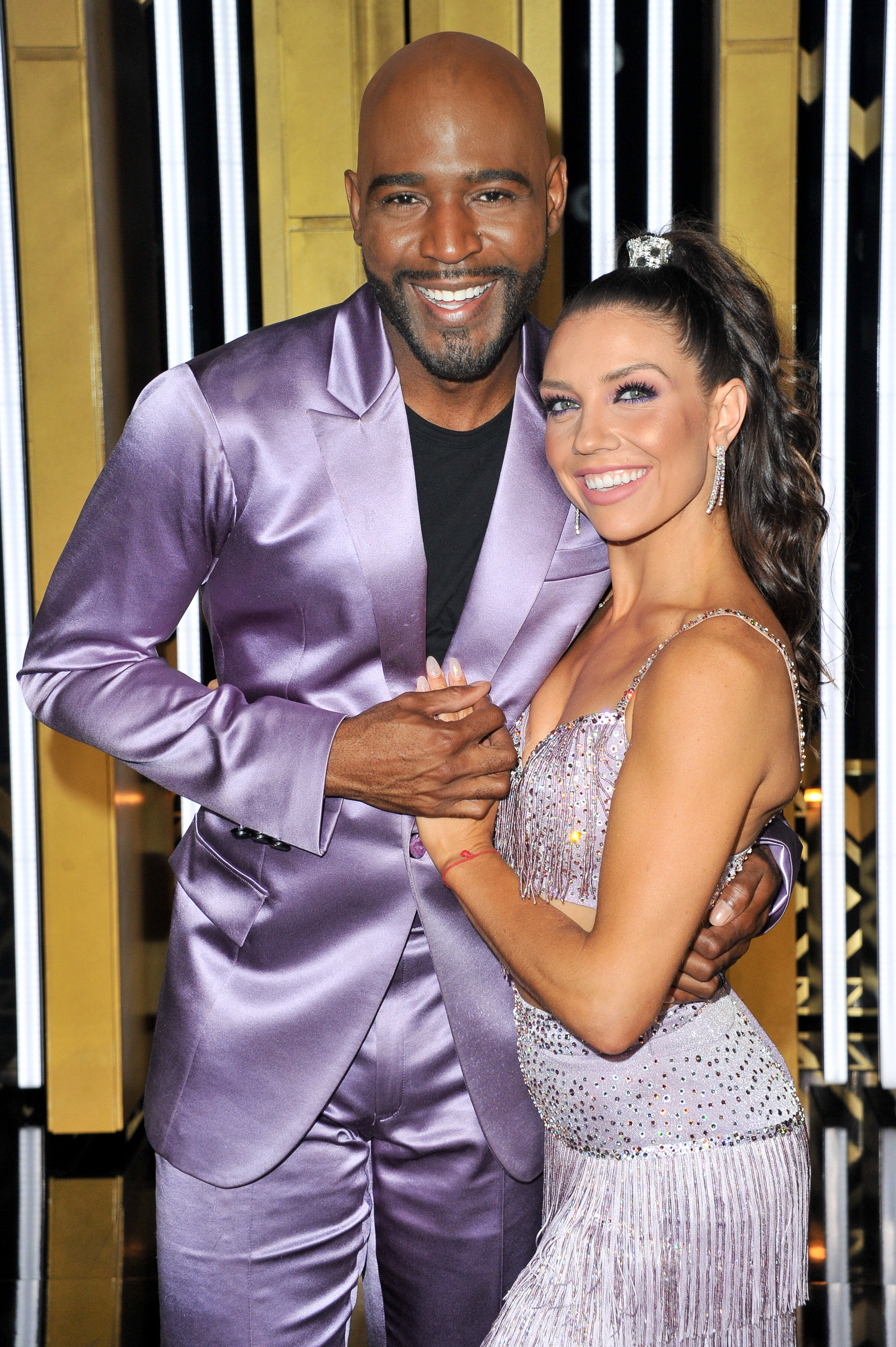 Karamo Brown and dancer Jenna Johnson compte on  Dancing With The Stars  on Sept. 16, 2019 in Los Angeles, California.