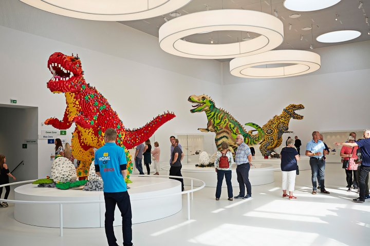 This is the inside of LEGO House in Denmark.