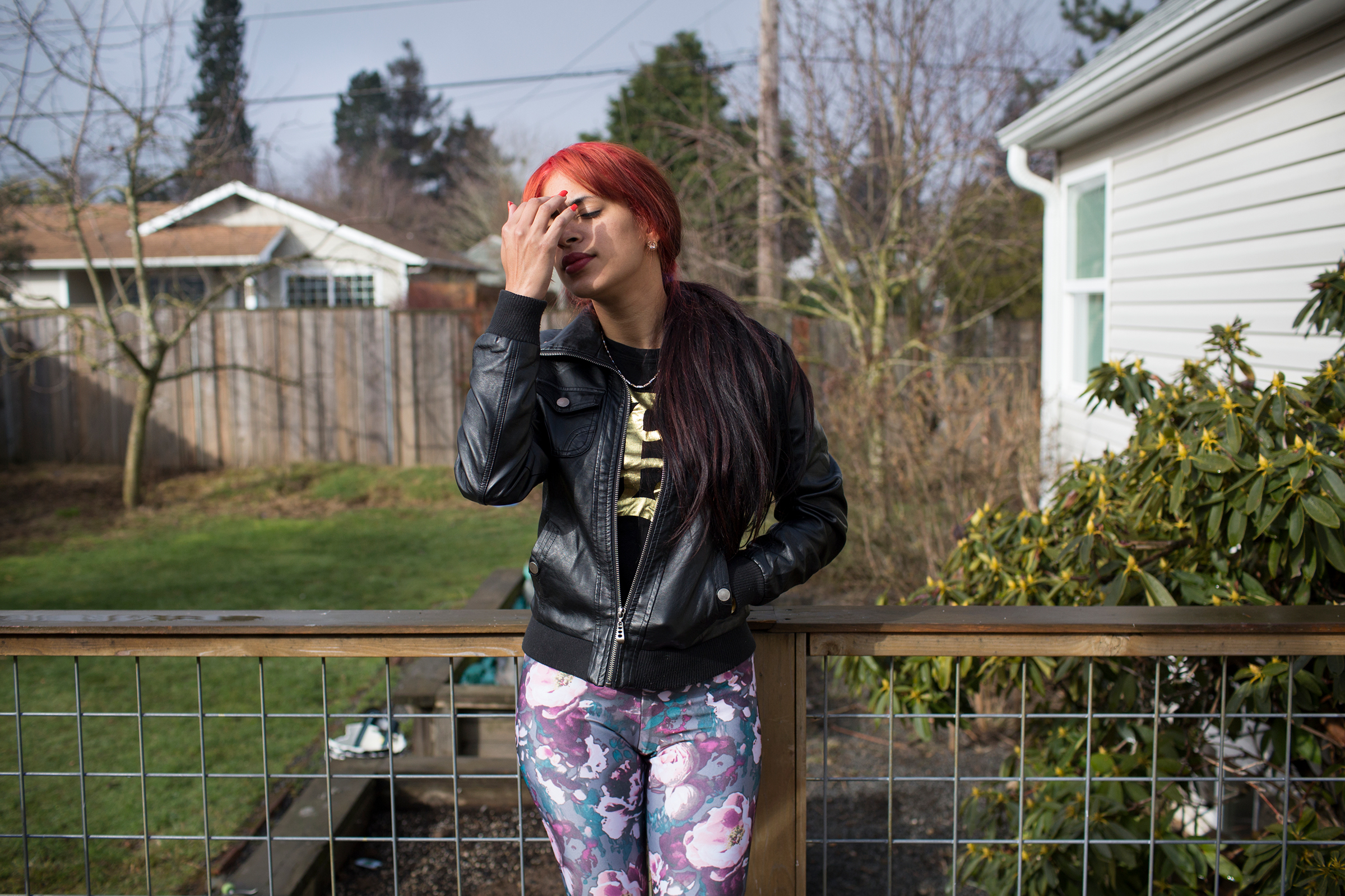 Liset in Portland, Ore., on Feb. 25, 2017, after a run in with the law awaiting her court date. She was picked up for using a fraudulent check that a Cuban friend had given her. She spent 12 days in jail and vowed to get on the right path.